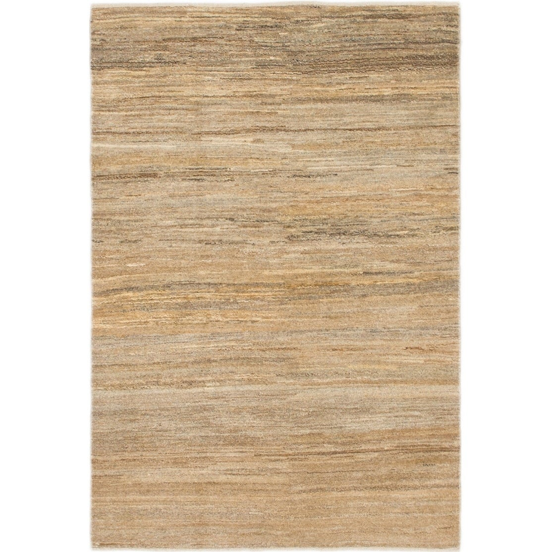 Hand Knotted Kashkuli Gabbeh Wool Area Rug - 3 4 x 5 (Taupe - 3 4 x 5)