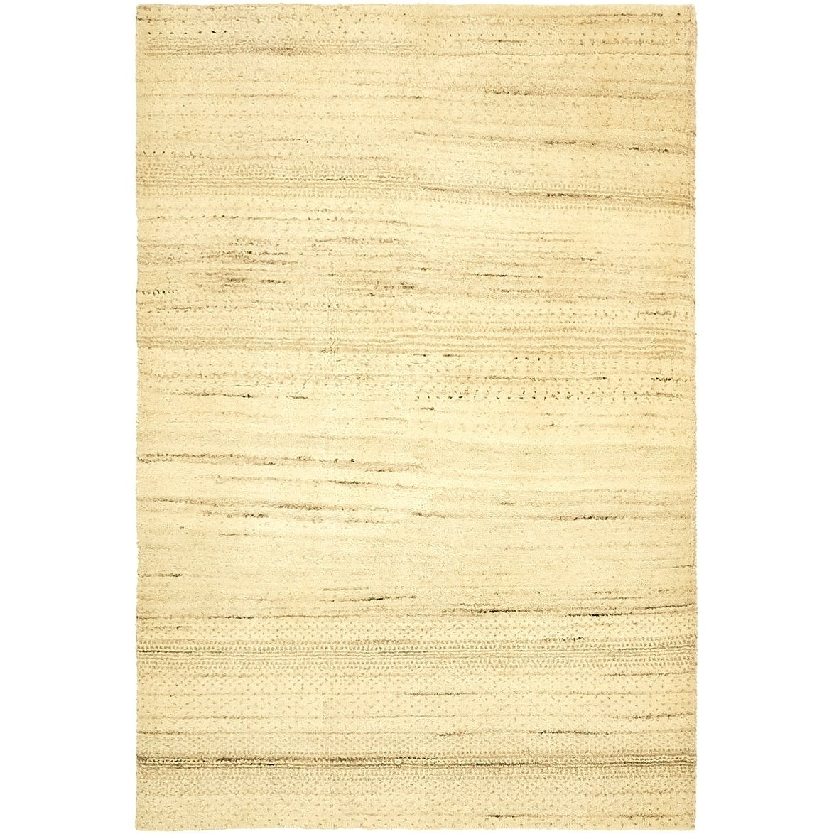 Hand Knotted Kashkuli Gabbeh Wool Area Rug - 3 2 x 4 9 (Cream - 3 2 x 4 9)