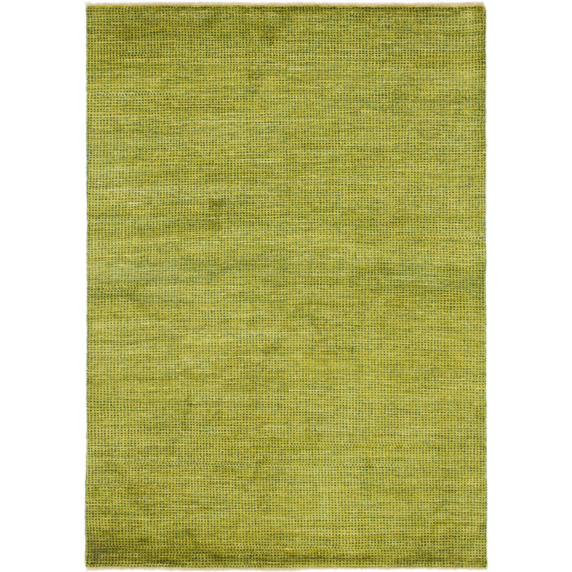 Hand Knotted Kashkuli Gabbeh Wool Area Rug - 5 7 x 8 (Green - 5 7 x 8)