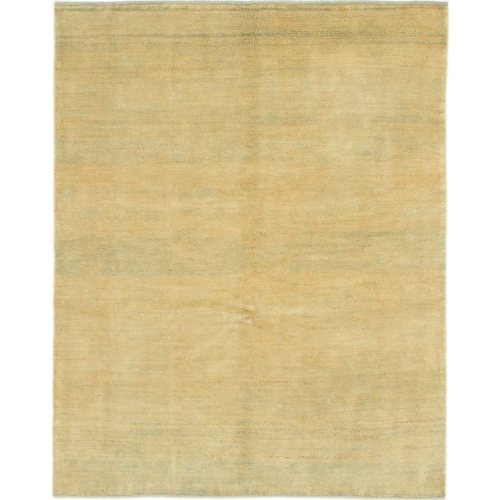 Hand Knotted Kashkuli Gabbeh Wool Area Rug - 5 x 6 3 (Gold - 5 x 6 3)