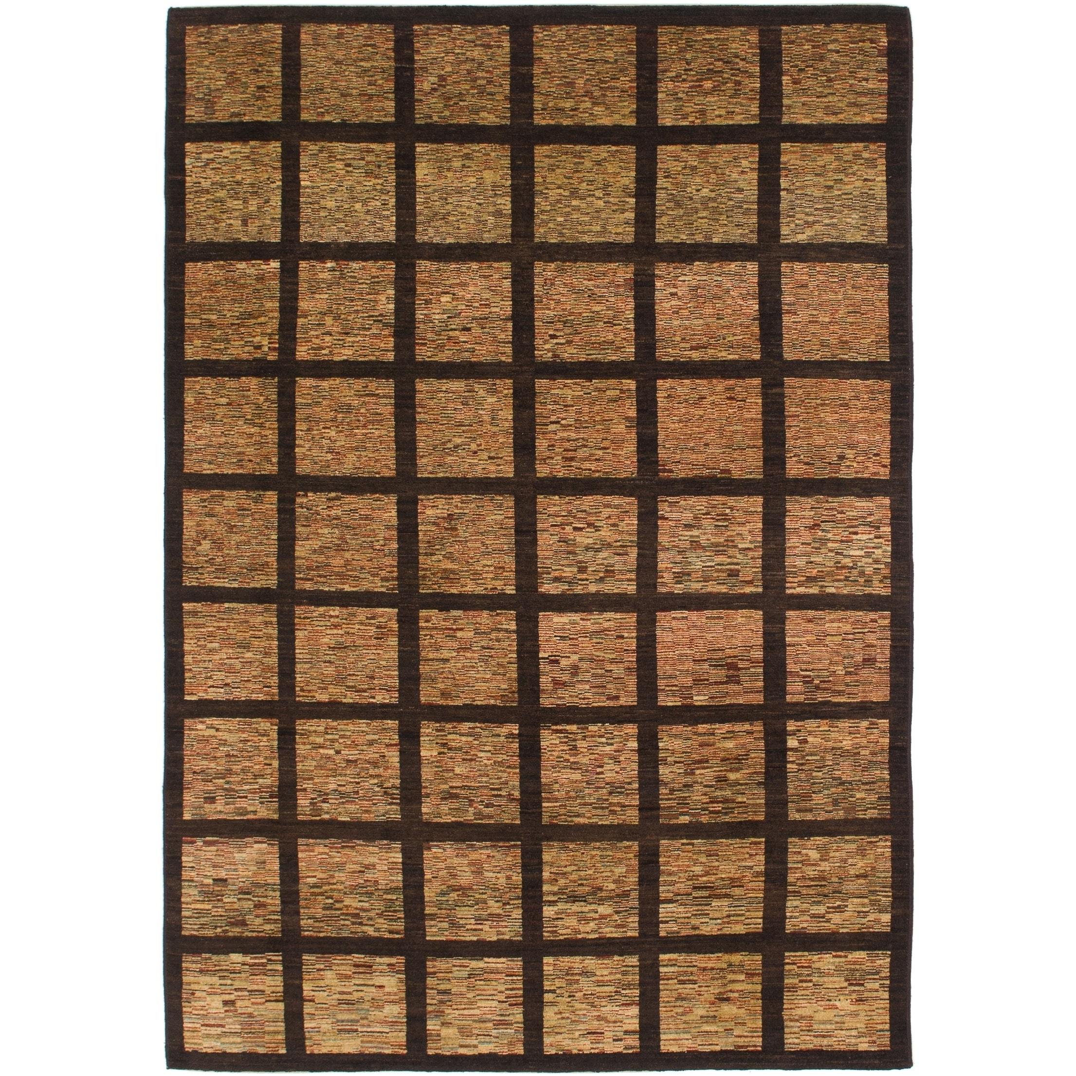 Hand Knotted Kashkuli Gabbeh Wool Area Rug - 6 4 x 9 5 (Maroon - 6 4 x 9 5)