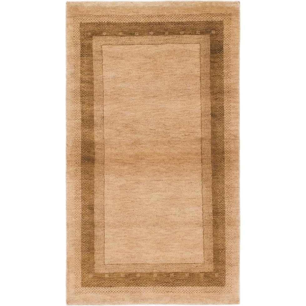 Hand Knotted Kashkuli Gabbeh Wool Area Rug - 3 x 5 (Light brown - 3 x 5)