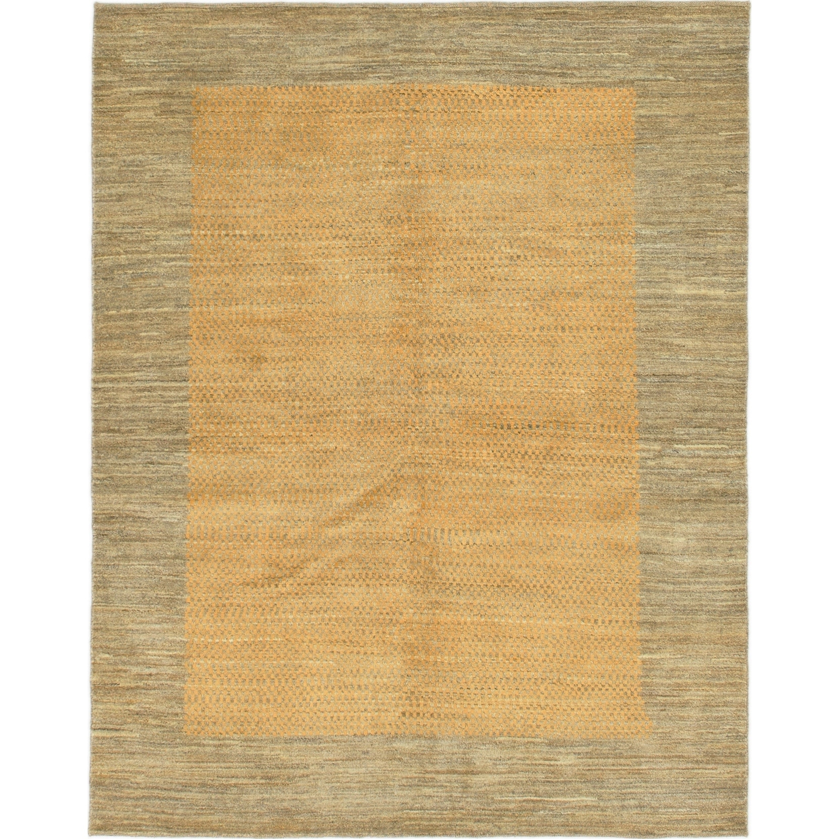 Hand Knotted Kashkuli Gabbeh Wool Area Rug - 5 x 6 3 (Gold - 5 x 6 3)