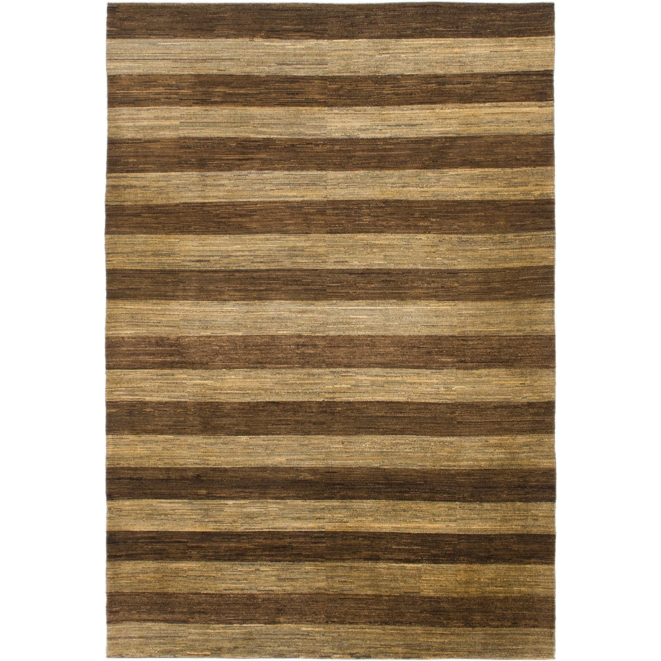 Hand Knotted Kashkuli Gabbeh Wool Area Rug - 6 8 x 9 8 (Brown - 6 8 x 9 8)