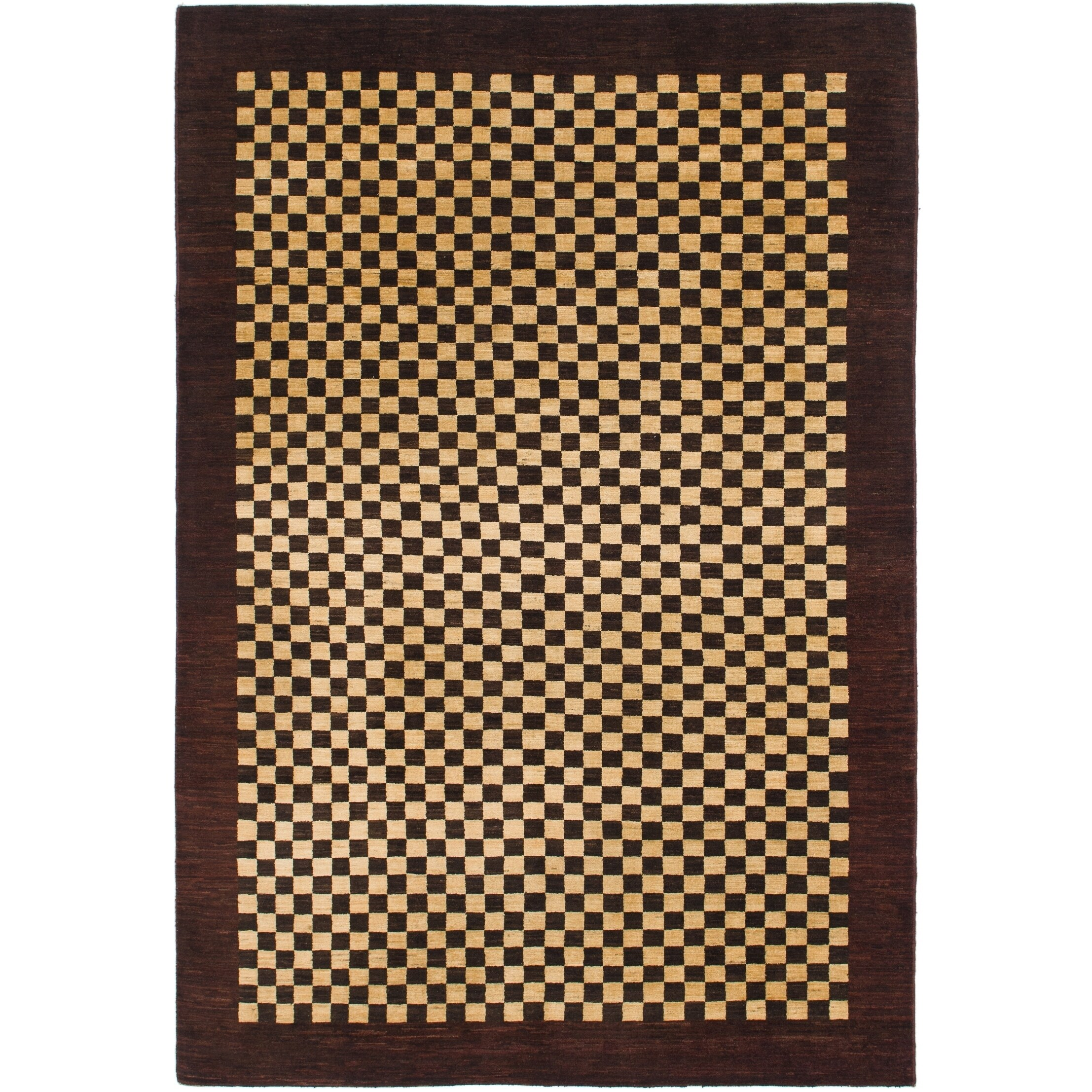 Hand Knotted Kashkuli Gabbeh Wool Area Rug - 6 5 x 9 6 (Burgundy - 6 5 x 9 6)