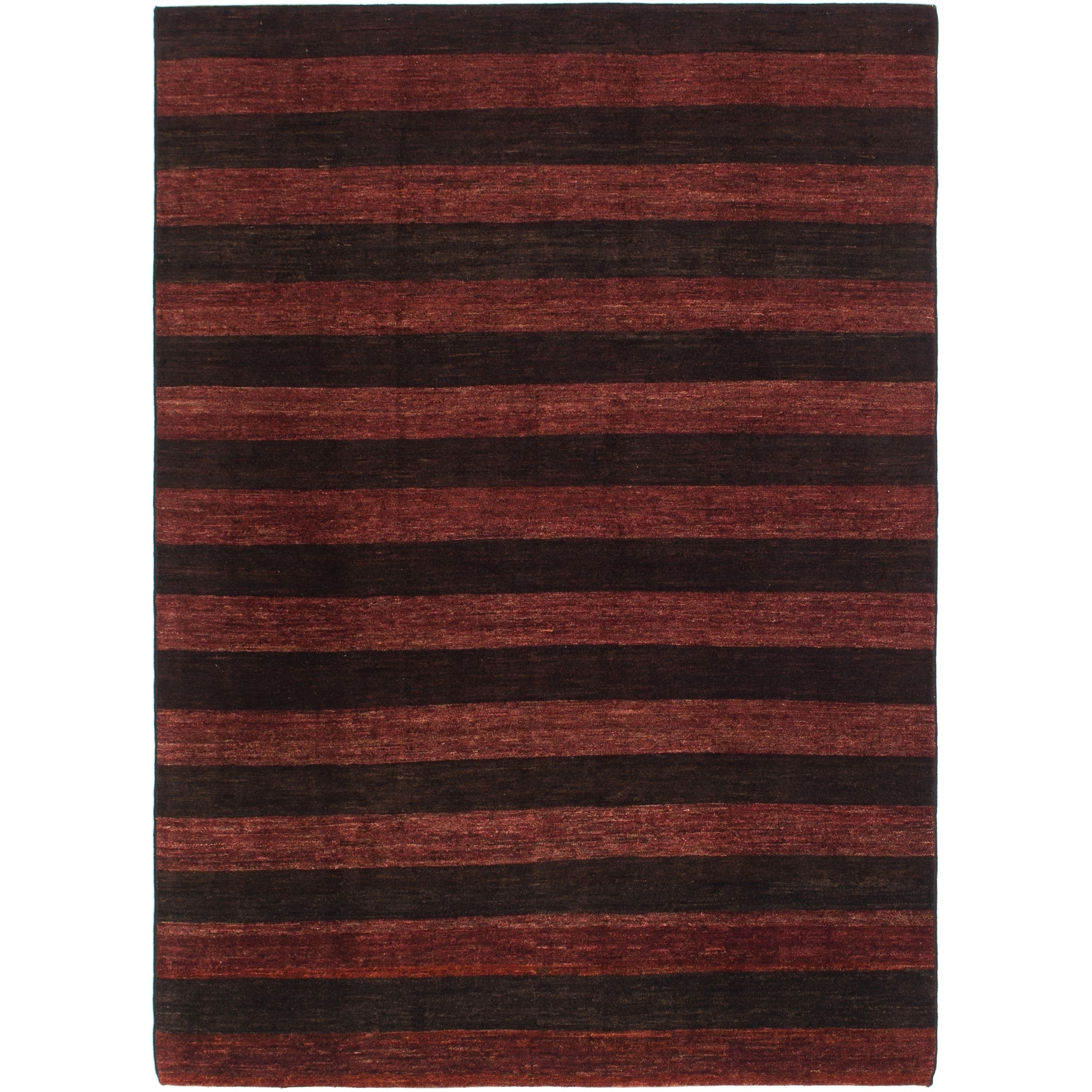 Hand Knotted Kashkuli Gabbeh Wool Area Rug - 6 6 x 8 10 (Burgundy - 6 6 x 8 10)