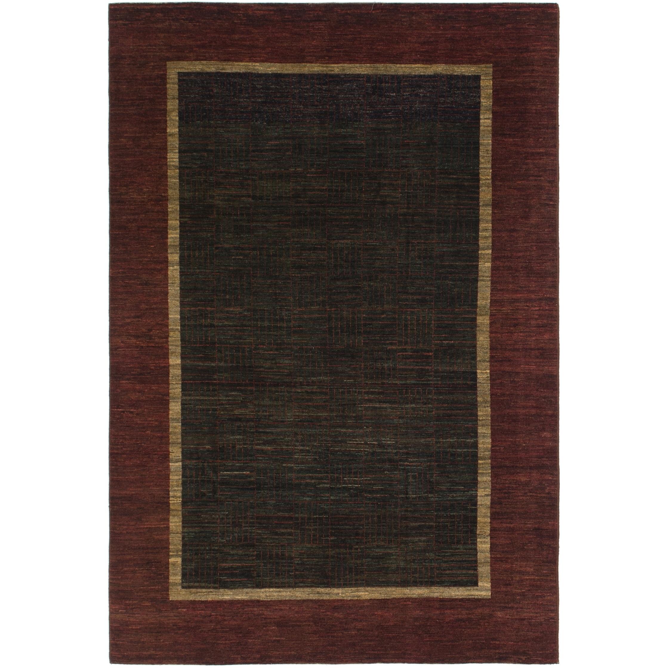 Hand Knotted Kashkuli Gabbeh Wool Area Rug - 6 6 x 9 8 (Navy blue - 6 6 x 9 8)