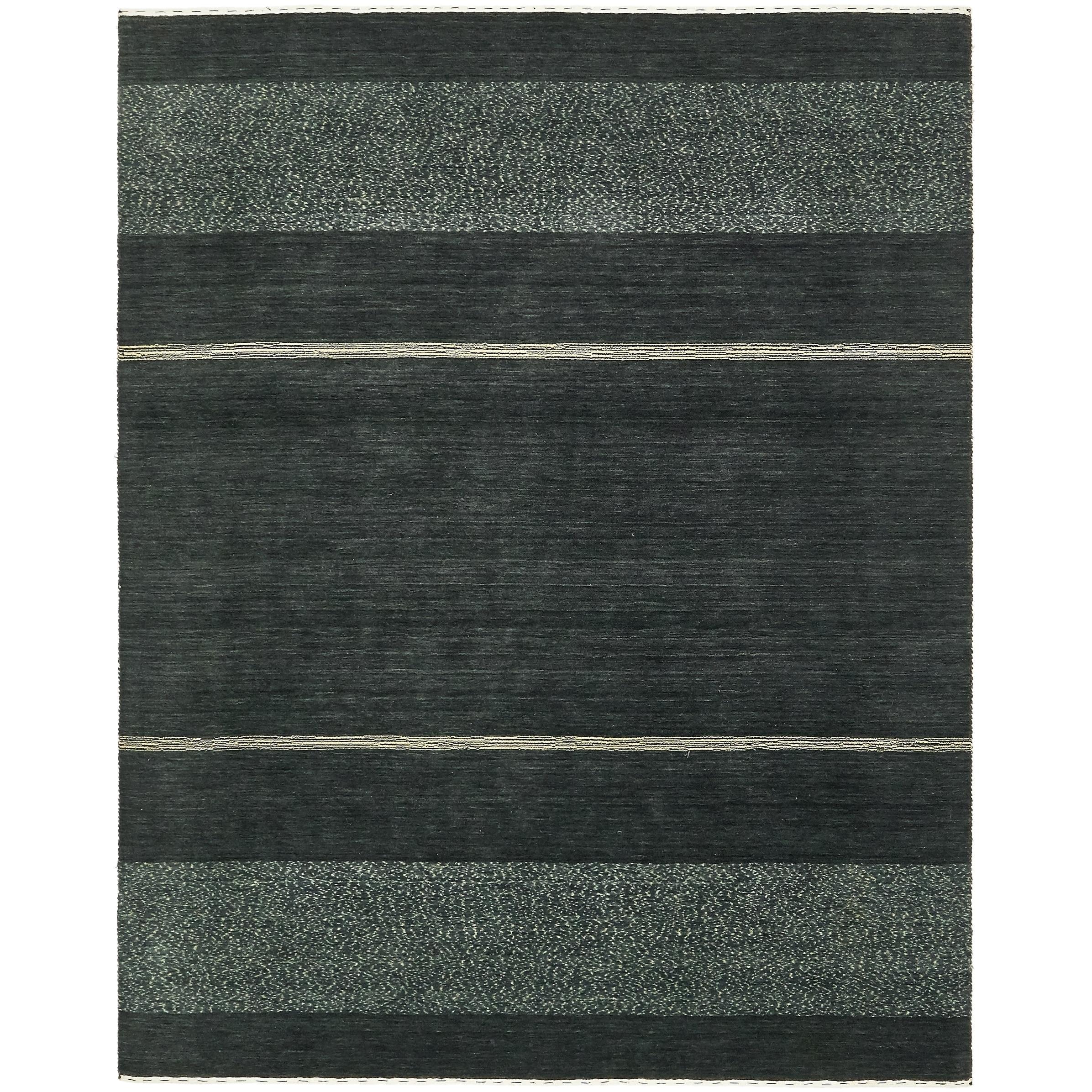 Hand Knotted Kashkuli Gabbeh Wool Area Rug - 6 8 x 8 4 (Dark Gray - 6 8 x 8 4)