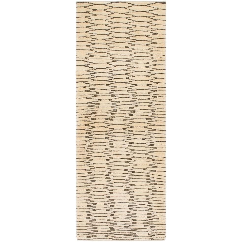 Hand Knotted Kashkuli Gabbeh Wool Runner Rug - 2 9 x 7 8 (Cream - 2 9 x 7 8)