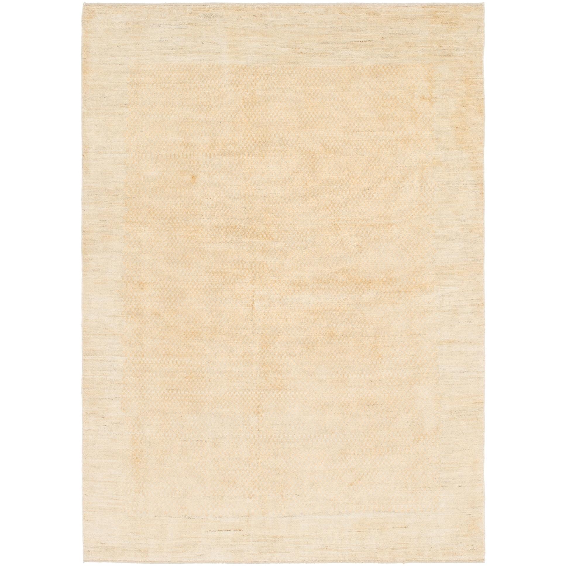 Hand Knotted Kashkuli Gabbeh Wool Area Rug - 5 7 x 7 10 (Gold - 5 7 x 7 10)
