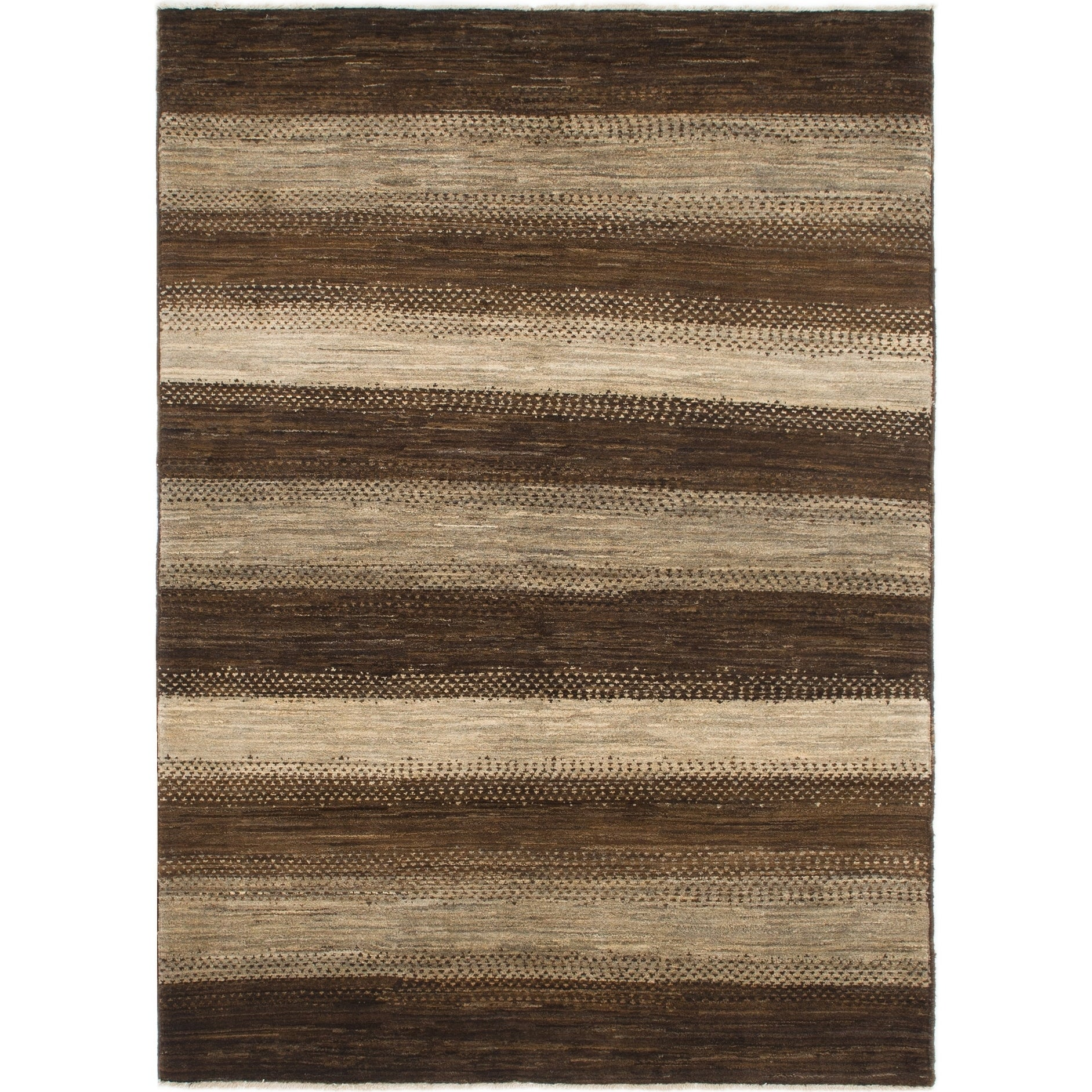Hand Knotted Kashkuli Gabbeh Wool Area Rug - 5 7 x 7 8 (Brown - 5 7 x 7 8)