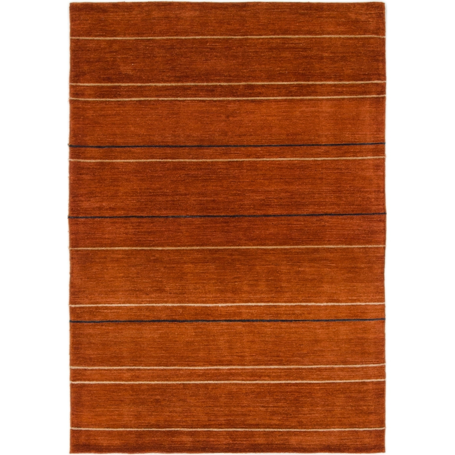 Hand Knotted Kashkuli Gabbeh Wool Area Rug - 3 10 x 5 8 (Terracotta - 3 10 x 5 8)
