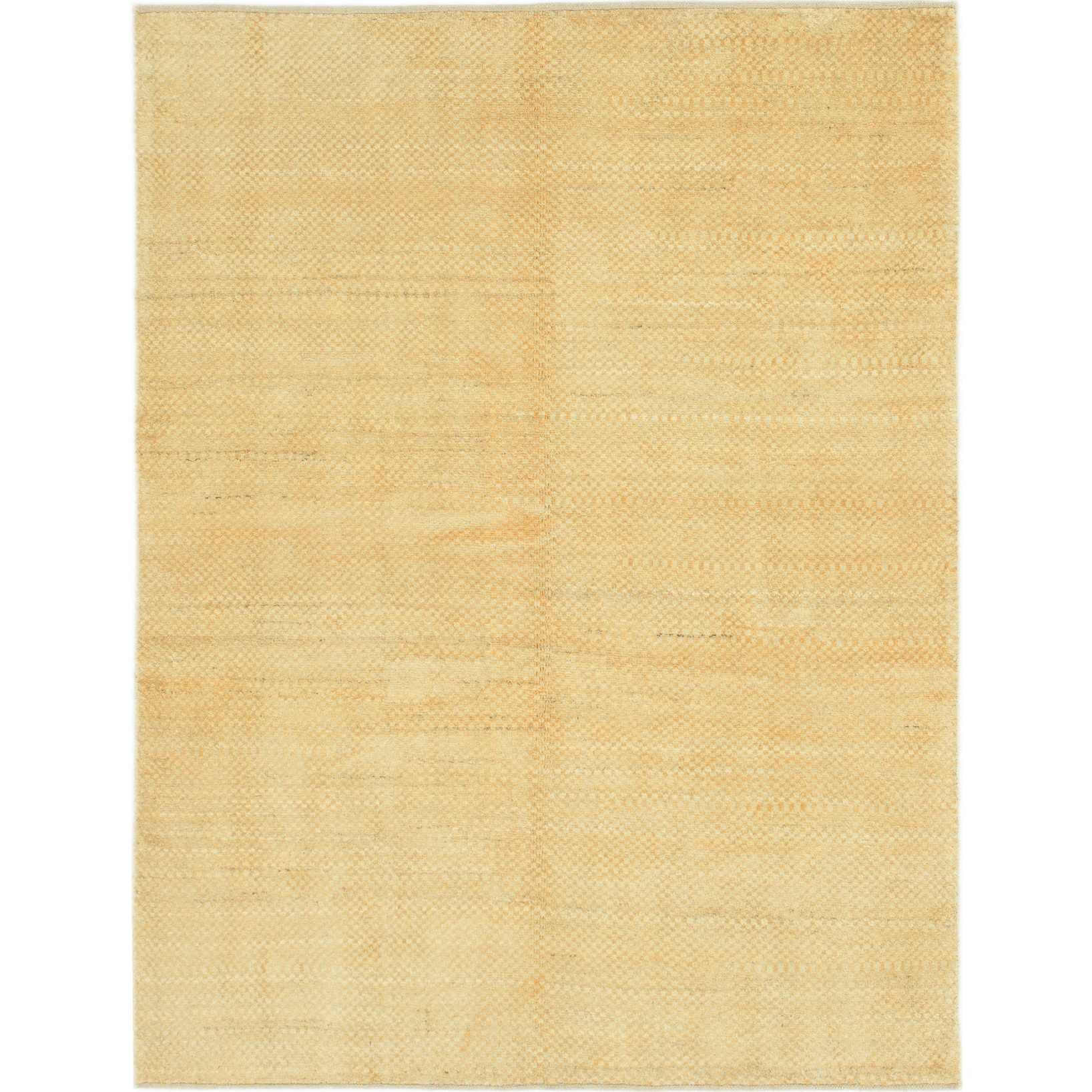 Hand Knotted Kashkuli Gabbeh Wool Area Rug - 4 10 x 6 5 (Gold - 4 10 x 6 5)