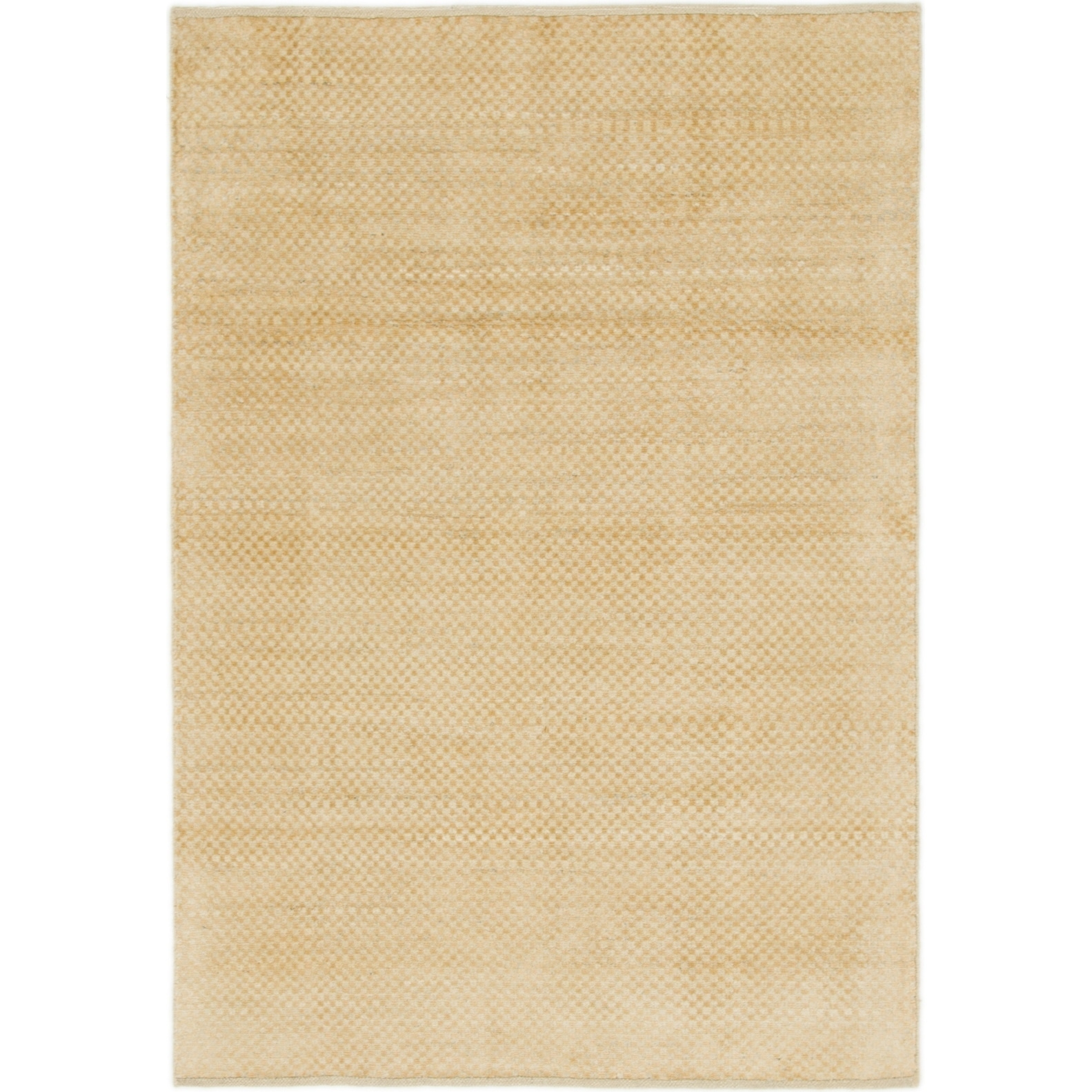 Hand Knotted Kashkuli Gabbeh Wool Area Rug - 4 x 5 10 (Cream - 4 x 5 10)