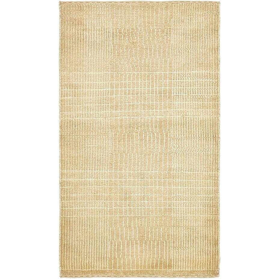 Hand Knotted Kashkuli Gabbeh Silk & Wool Area Rug - 2 5 x 4 2 (Beige - 2 5 x 4 2)