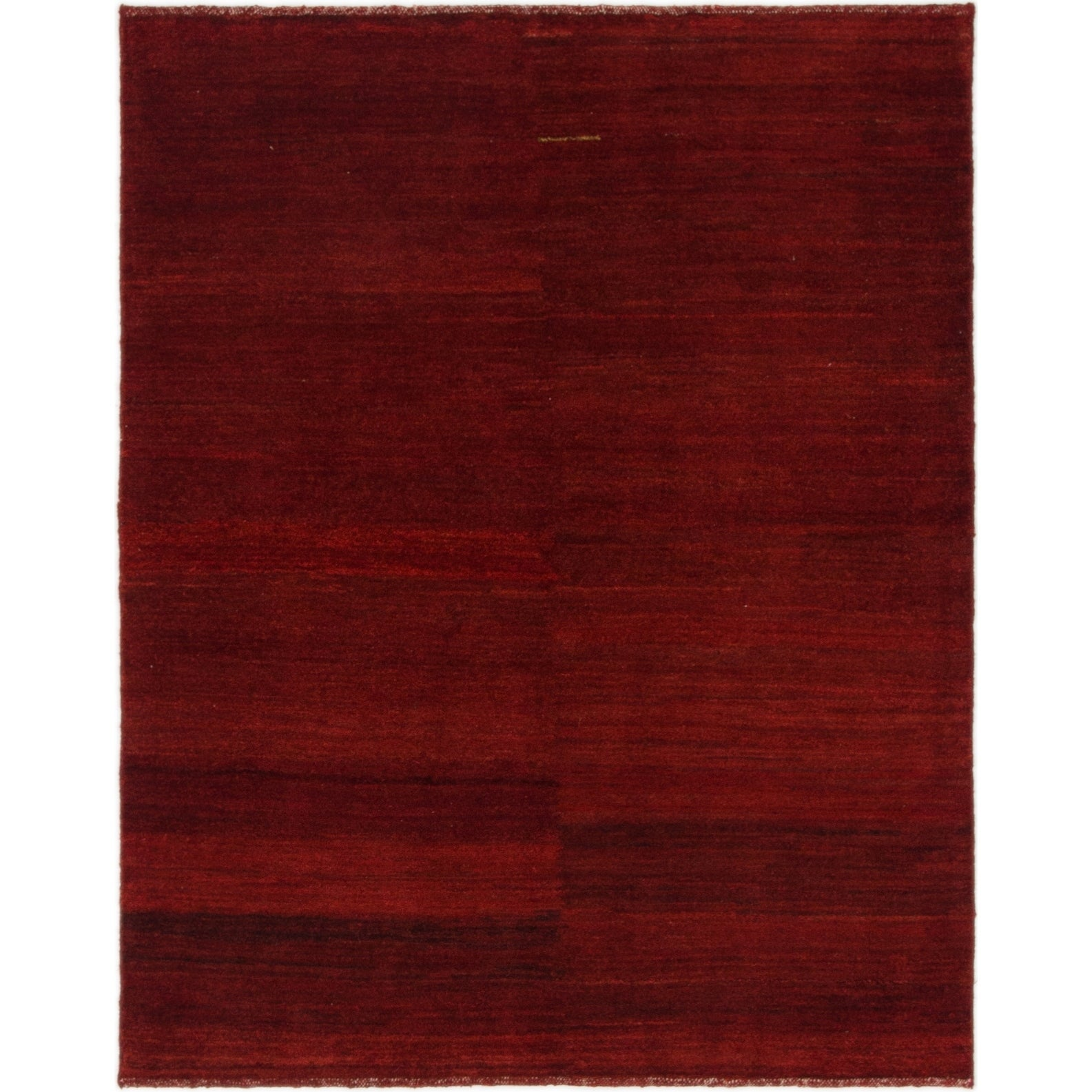 Hand Knotted Kashkuli Gabbeh Wool Area Rug - 4 x 5 1 (Burgundy - 4 x 5 1)