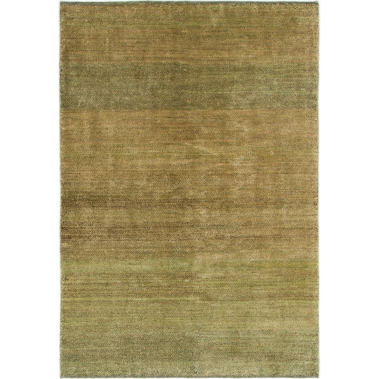 Hand Knotted Kashkuli Gabbeh Wool Area Rug - 3 10 x 5 9 (Green - 3 10 x 5 9)