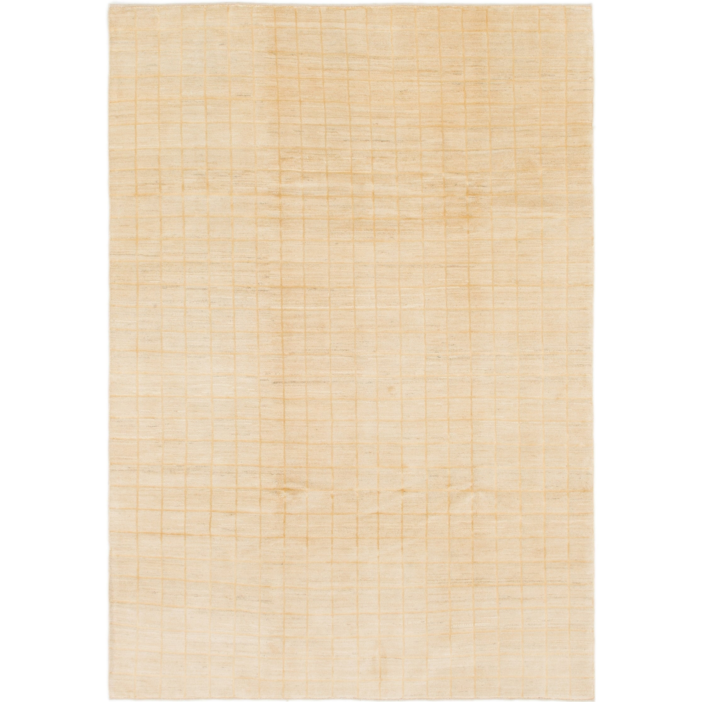 Hand Knotted Kashkuli Gabbeh Wool Area Rug - 6 6 x 9 5 (Cream - 6 6 x 9 5)