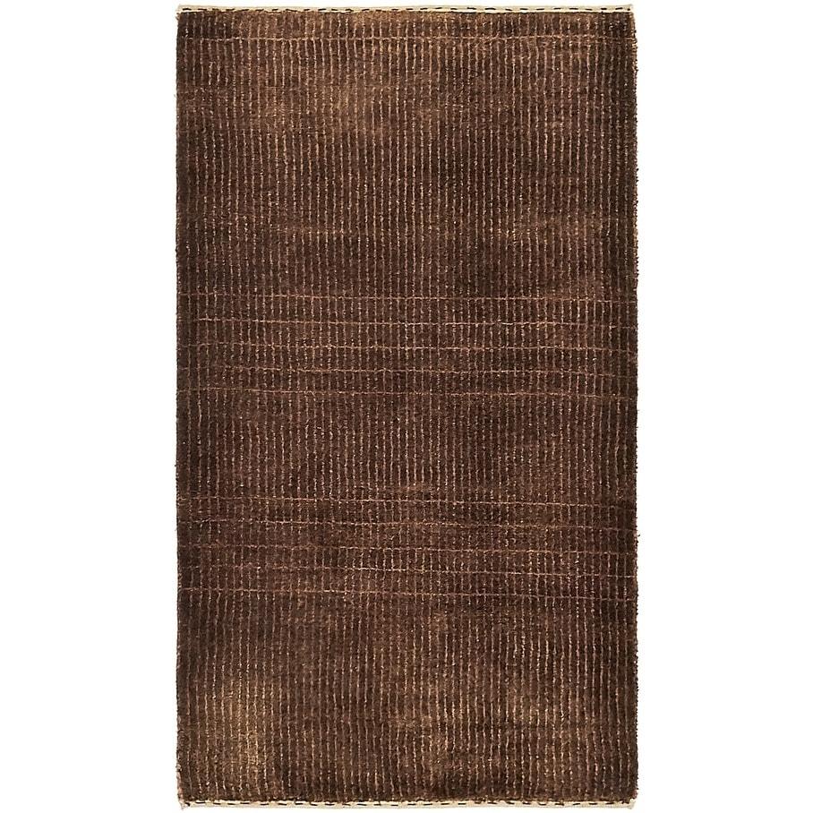 Hand Knotted Kashkuli Gabbeh Silk & Wool Area Rug - 2 5 x 4 2 (Brown - 2 5 x 4 2)