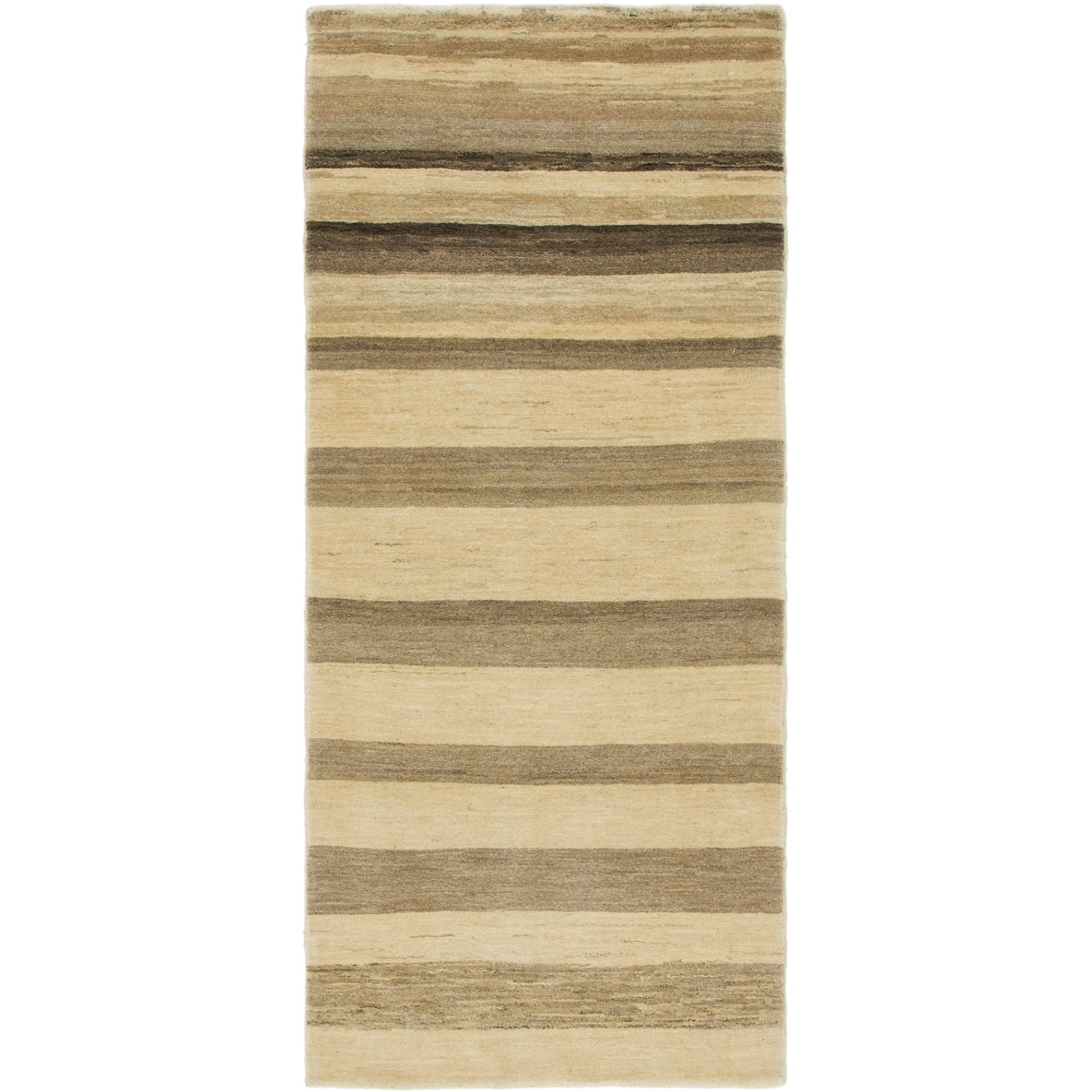 Hand Knotted Kashkuli Gabbeh Wool Runner Rug - 2 10 x 6 7 (Cream - 2 10 x 6 7)