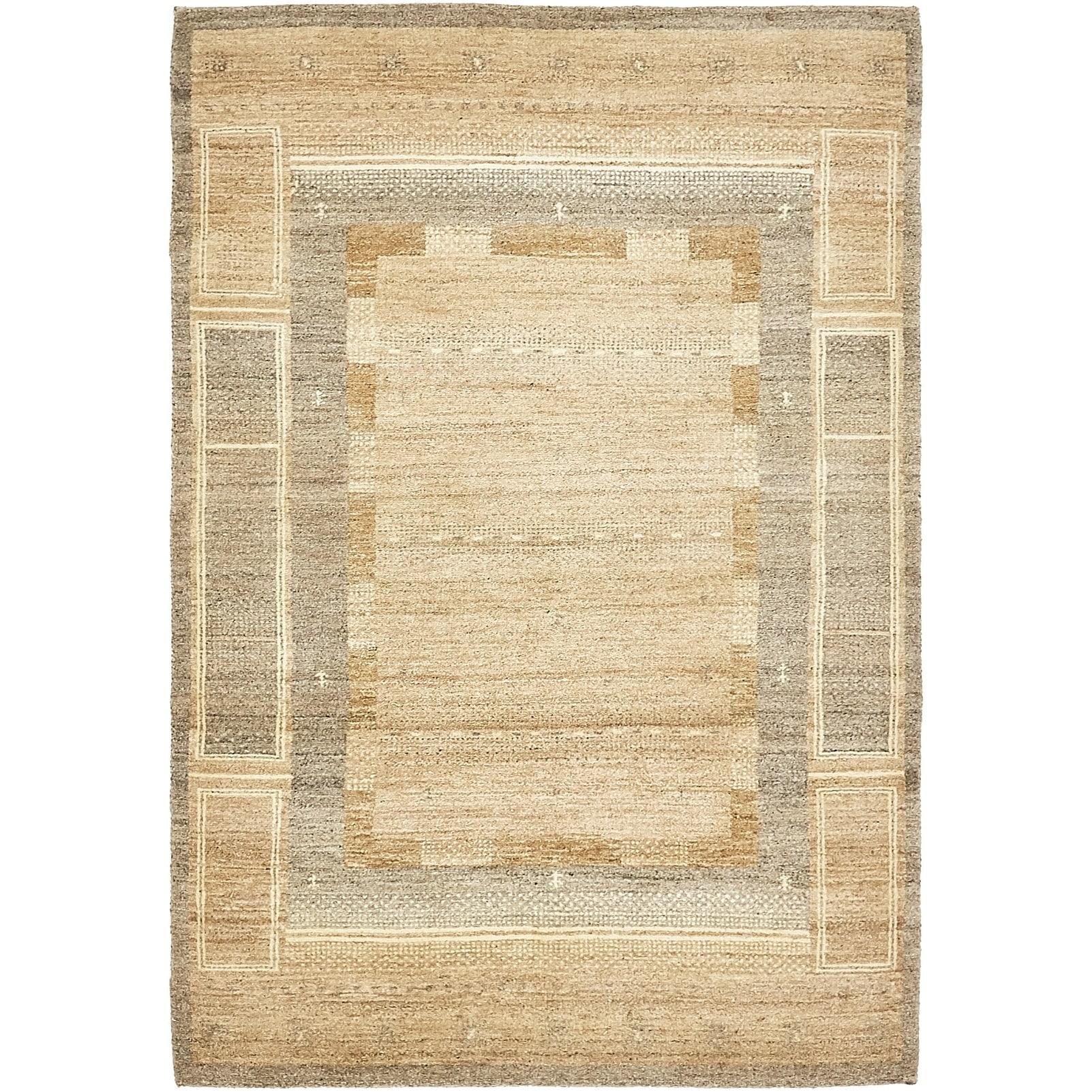 Hand Knotted Kashkuli Gabbeh Wool Area Rug - 4 x 6 (Light brown - 4 x 6)