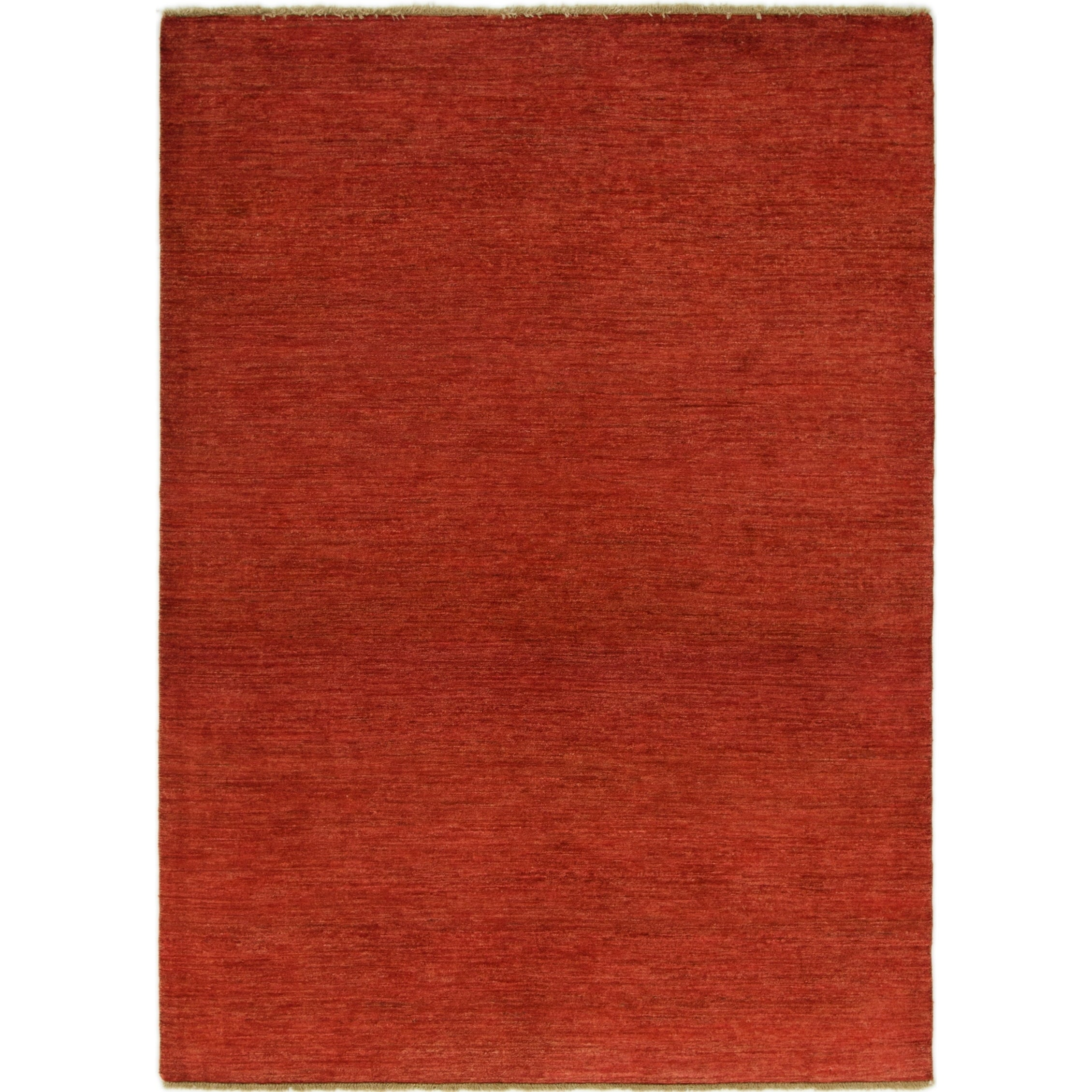 Hand Knotted Kashkuli Gabbeh Wool Area Rug - 5 9 x 8 (Red - 5 9 x 8)