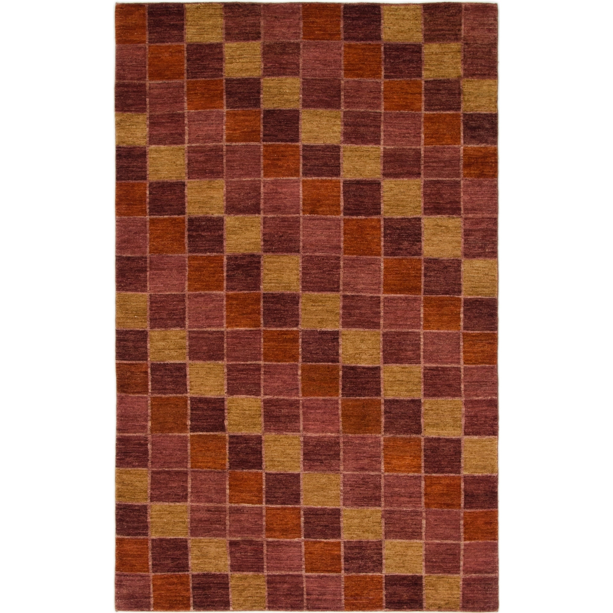 Hand Knotted Kashkuli Gabbeh Wool Area Rug - 5 2 x 8 3 (Rust Red - 5 2 x 8 3)