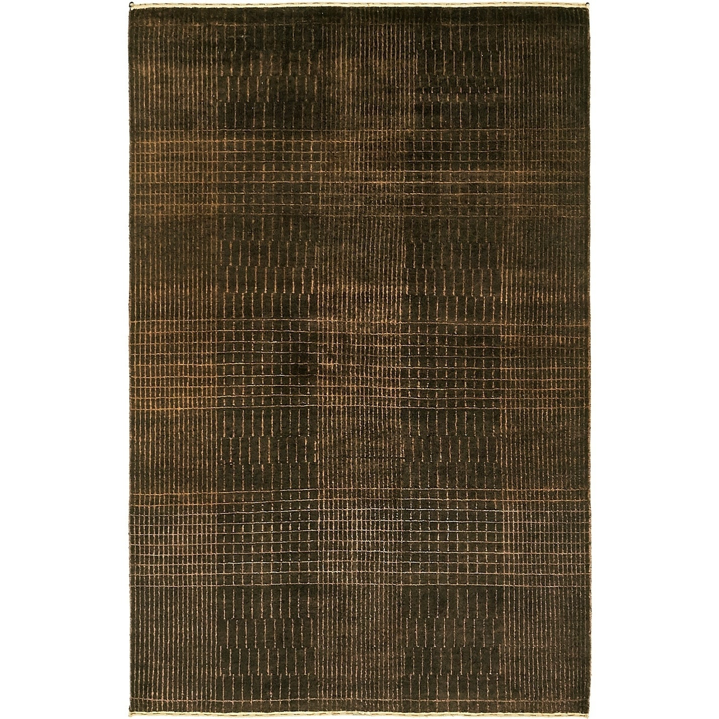 Hand Knotted Kashkuli Gabbeh Silk & Wool Area Rug - 4 x 6 2 (Brown - 4 x 6 2)