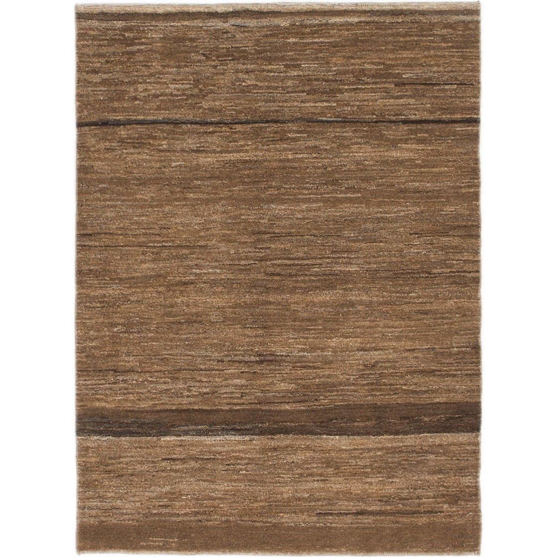 Hand Knotted Kashkuli Gabbeh Wool Area Rug - 3 4 x 4 7 (Brown - 3 4 x 4 7)