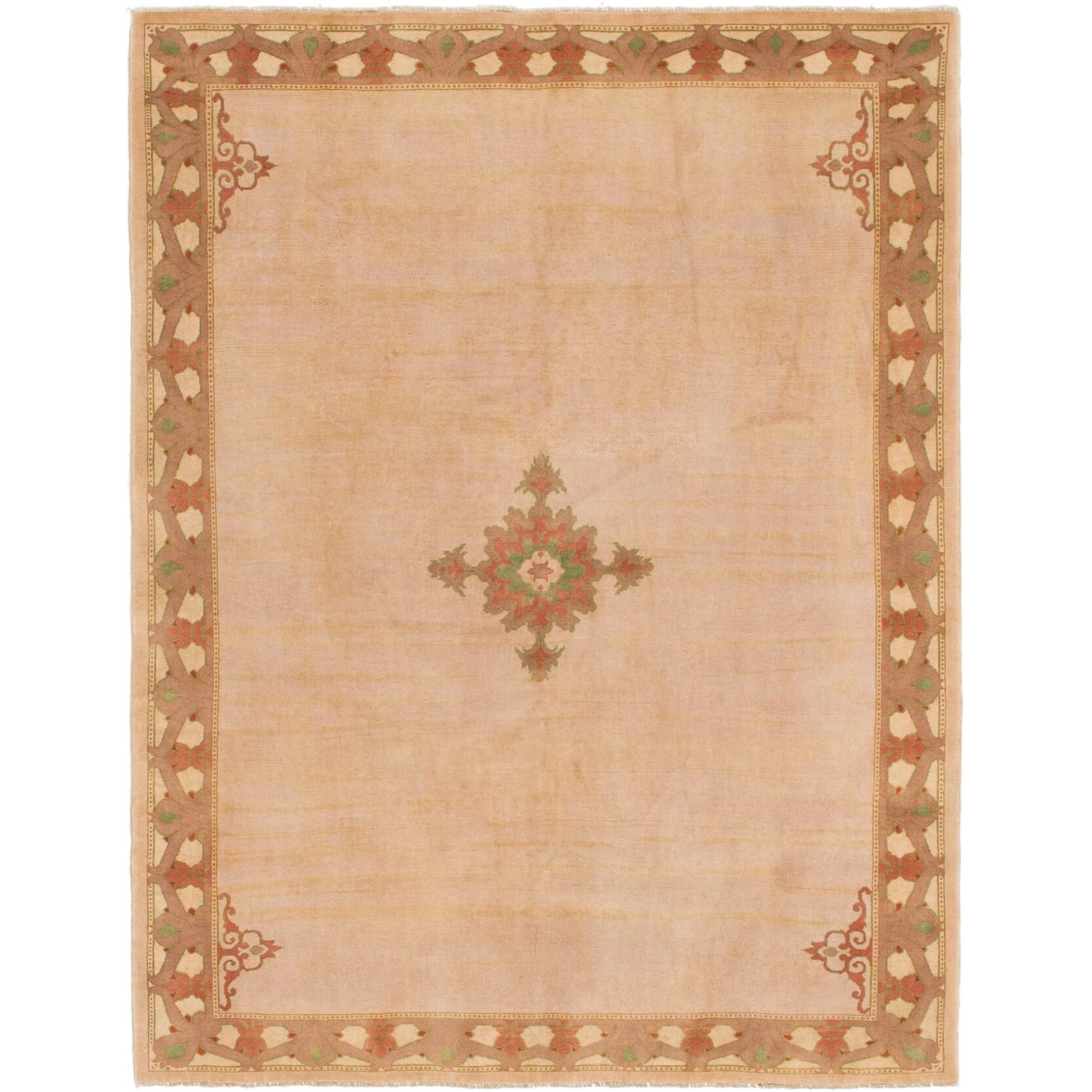 Hand Knotted Kashkuli Gabbeh Wool Area Rug - 4 9 x 6 2 (peach - 4 9 x 6 2)