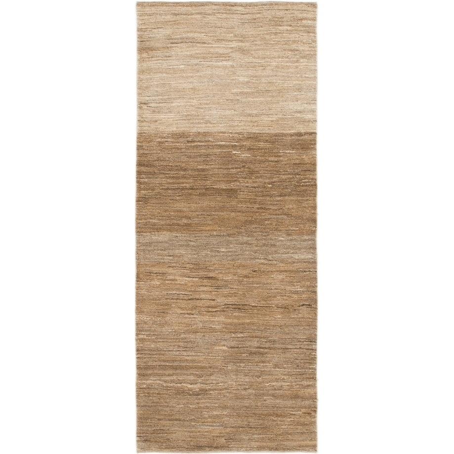 Hand Knotted Kashkuli Gabbeh Wool Runner Rug - 2 9 x 6 9 (Beige - 2 9 x 6 9)
