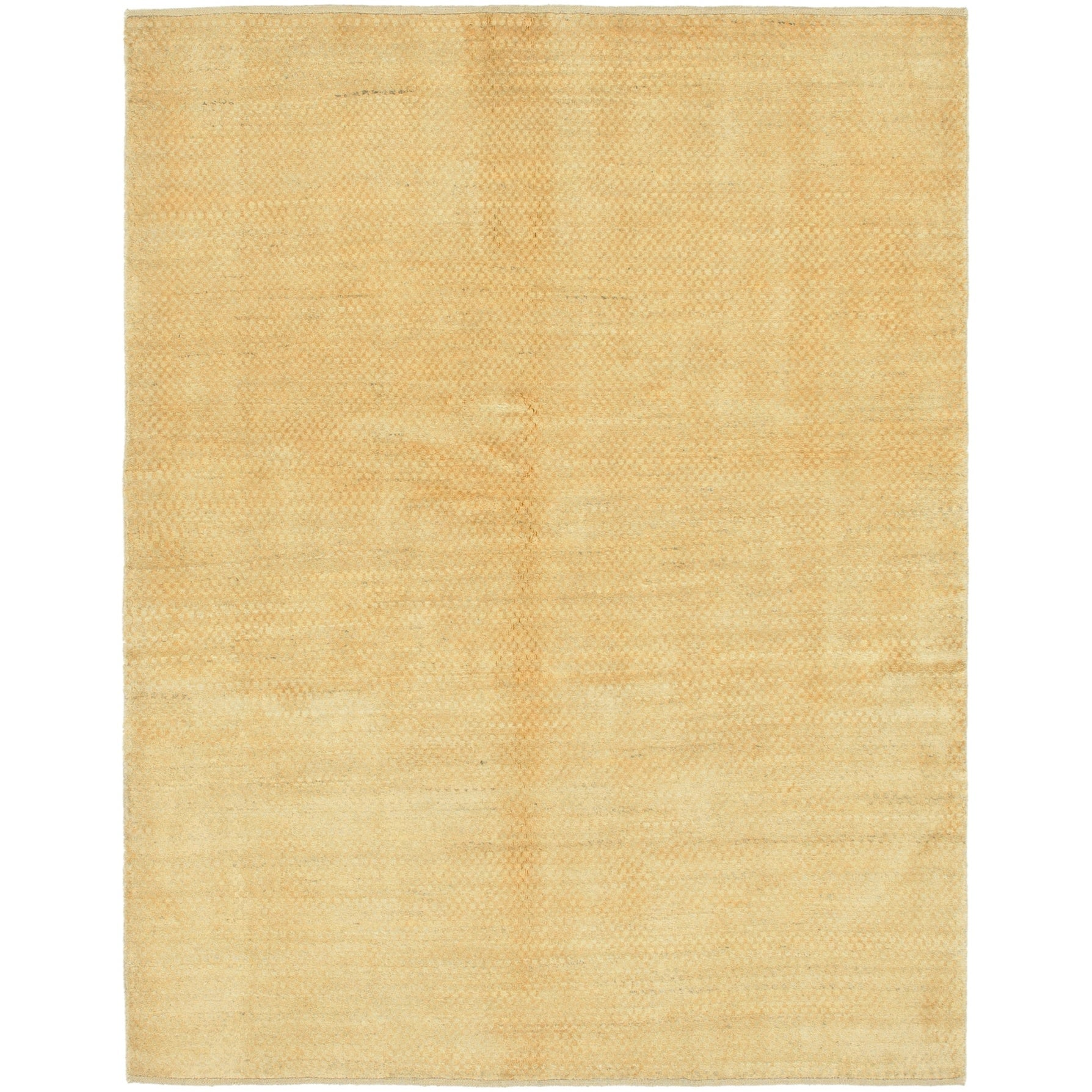 Hand Knotted Kashkuli Gabbeh Wool Area Rug - 5 2 x 6 8 (Gold - 5 2 x 6 8)
