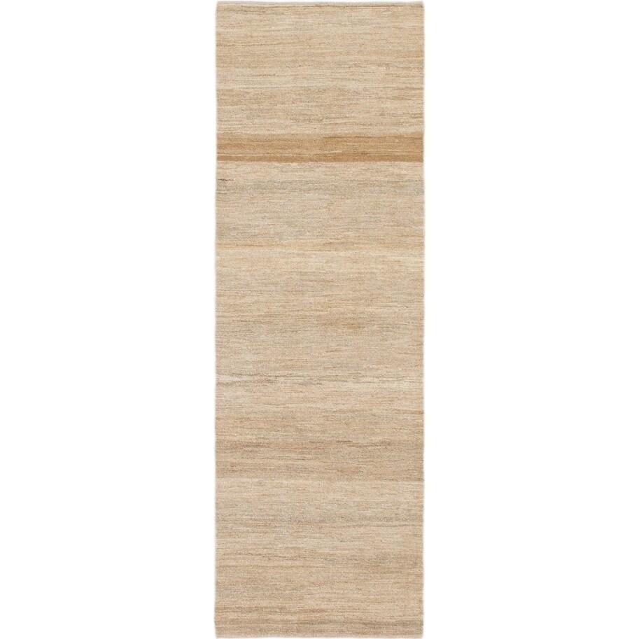 Hand Knotted Kashkuli Gabbeh Wool Runner Rug - 2 8 x 8 2 (Beige - 2 8 x 8 2)