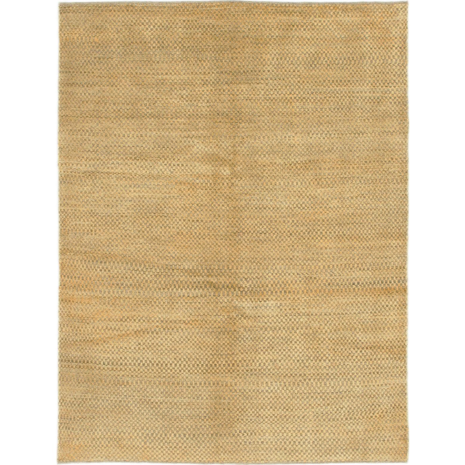 Hand Knotted Kashkuli Gabbeh Wool Area Rug - 4 7 x 6 (Gold - 4 7 x 6)