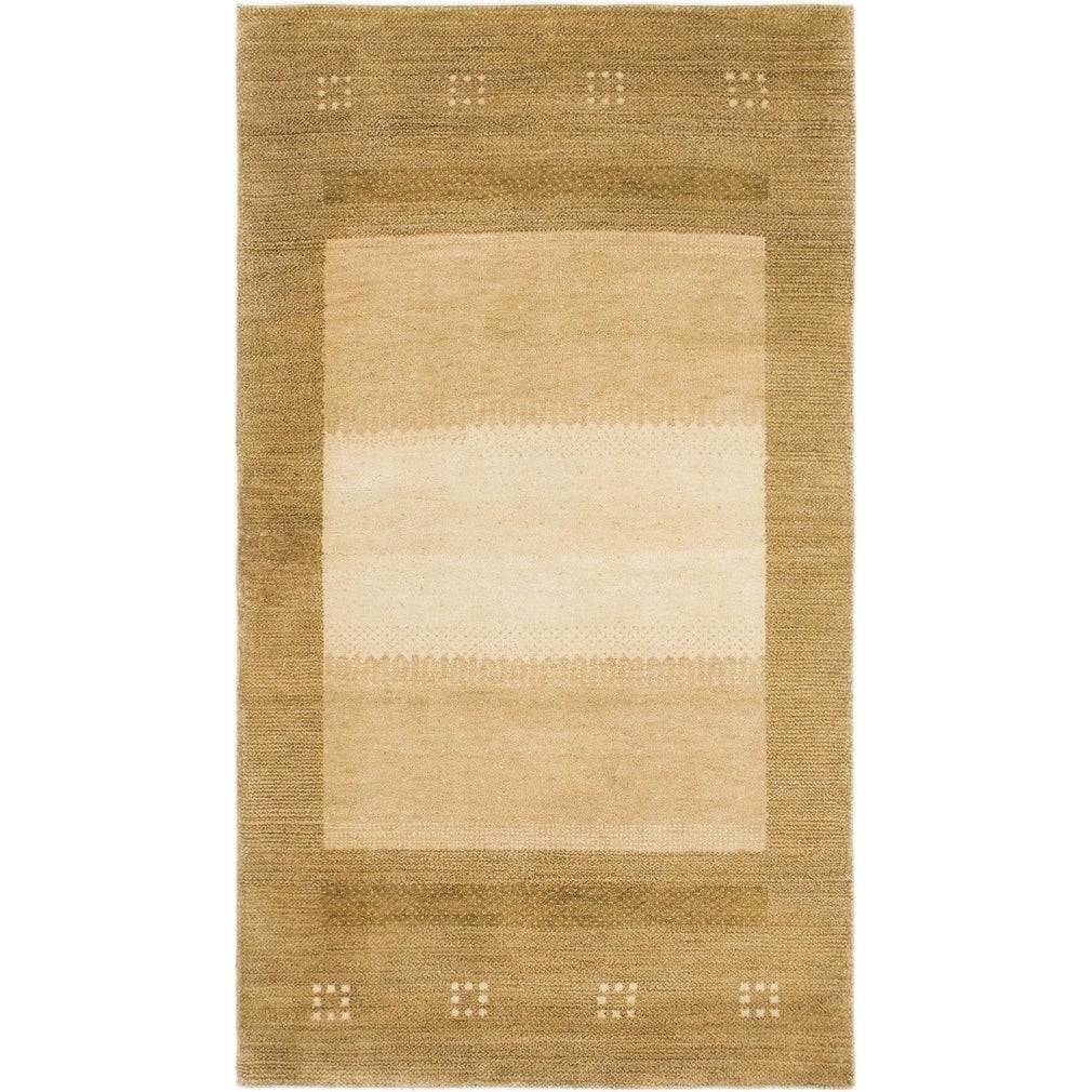 Hand Knotted Kashkuli Gabbeh Wool Area Rug - 3 x 5 3 (Light brown - 3 x 5 3)
