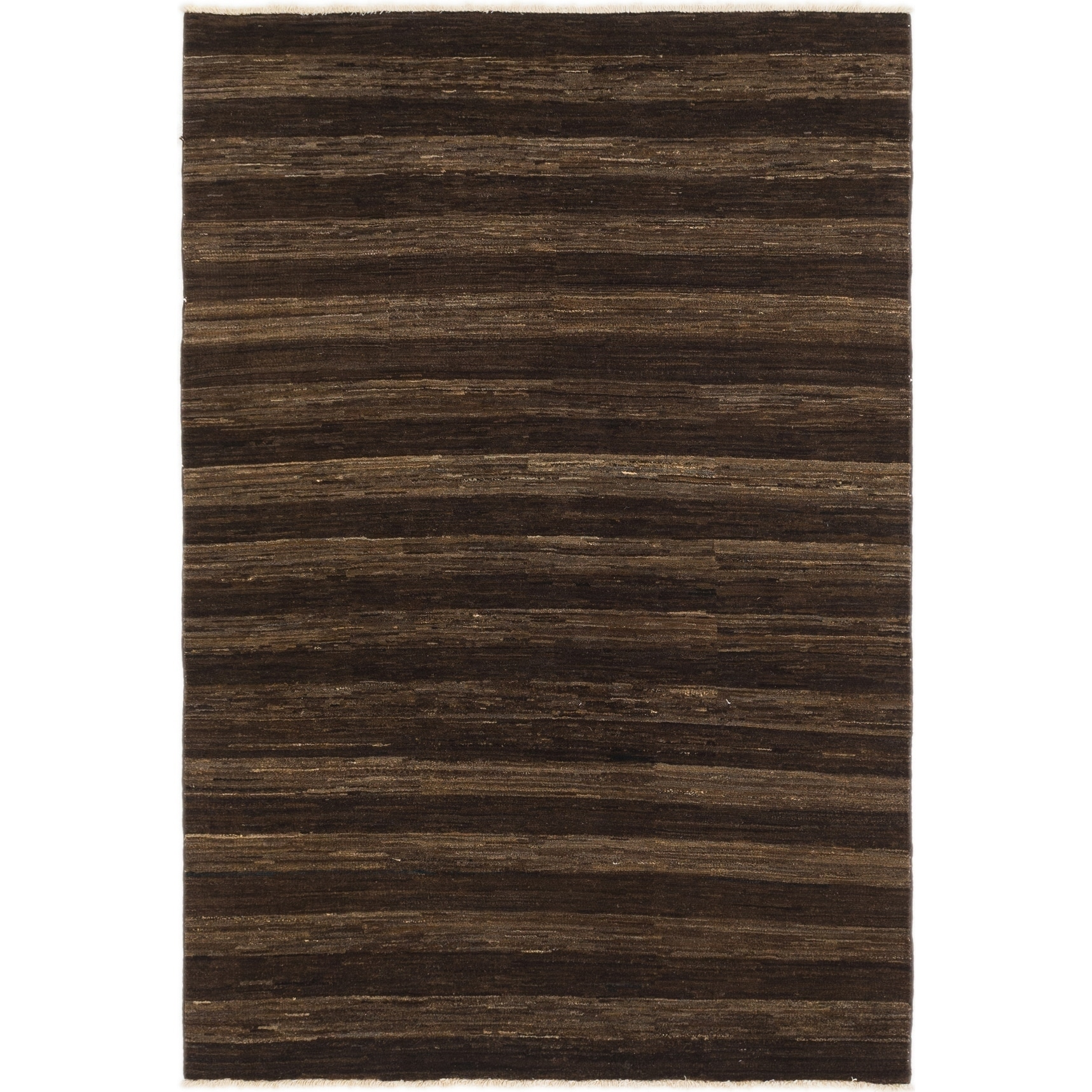 Hand Knotted Kashkuli Gabbeh Wool Area Rug - 5 x 7 6 (Brown - 5 x 7 6)