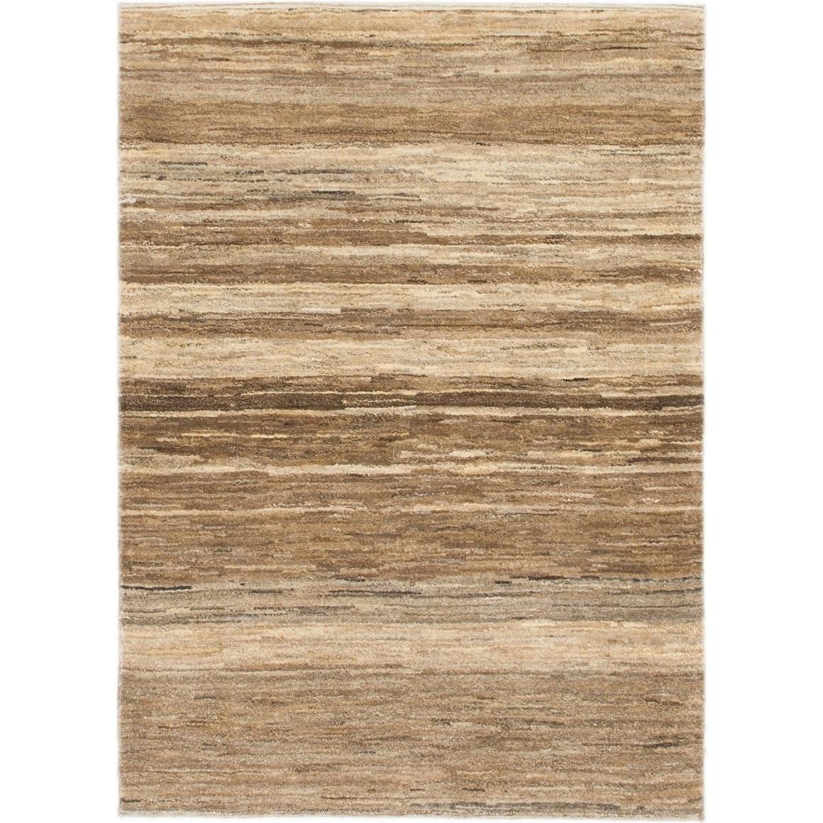 Hand Knotted Kashkuli Gabbeh Wool Area Rug - 3 6 x 4 10 (Brown - 3 6 x 4 10)