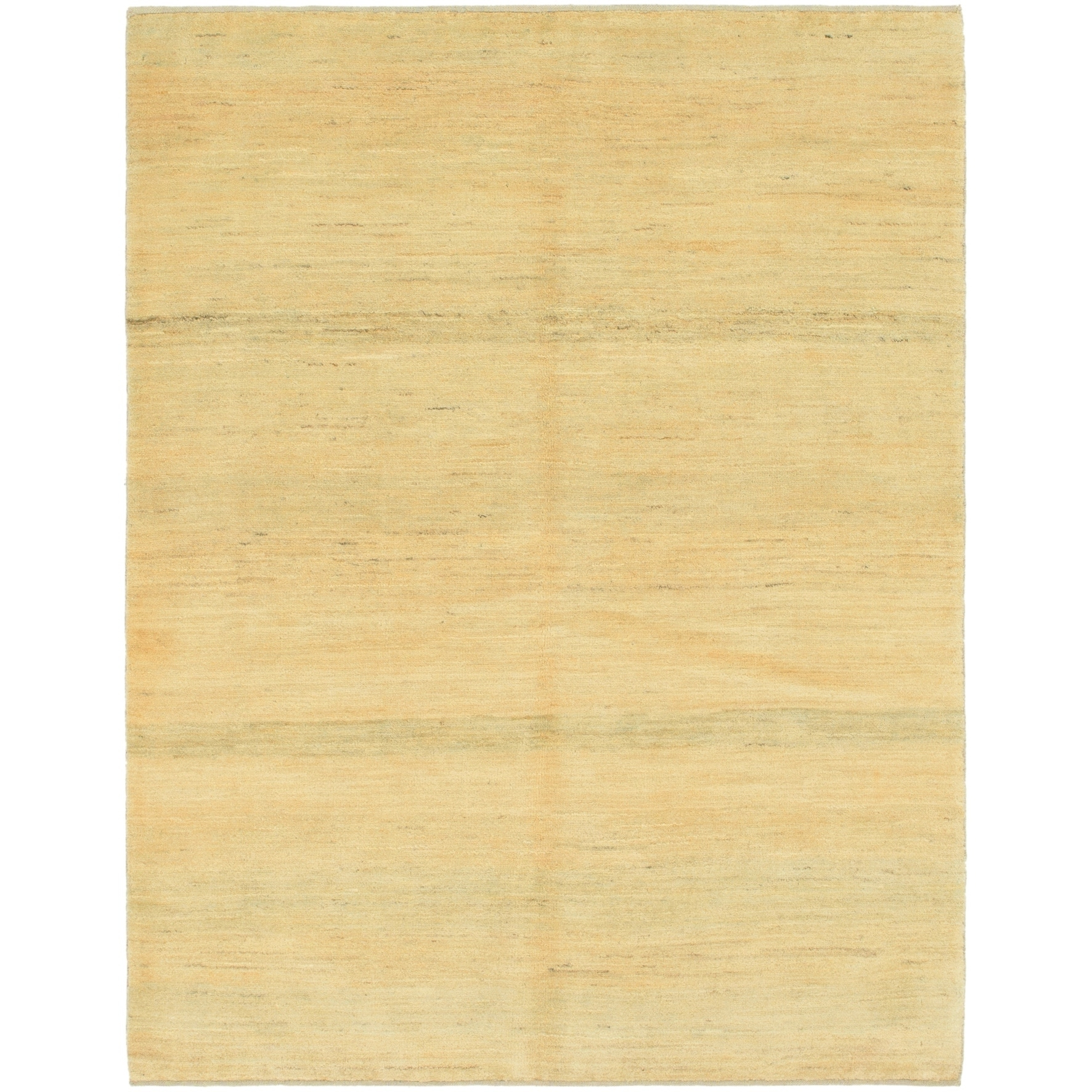 Hand Knotted Kashkuli Gabbeh Wool Area Rug - 5 x 6 7 (Gold - 5 x 6 7)