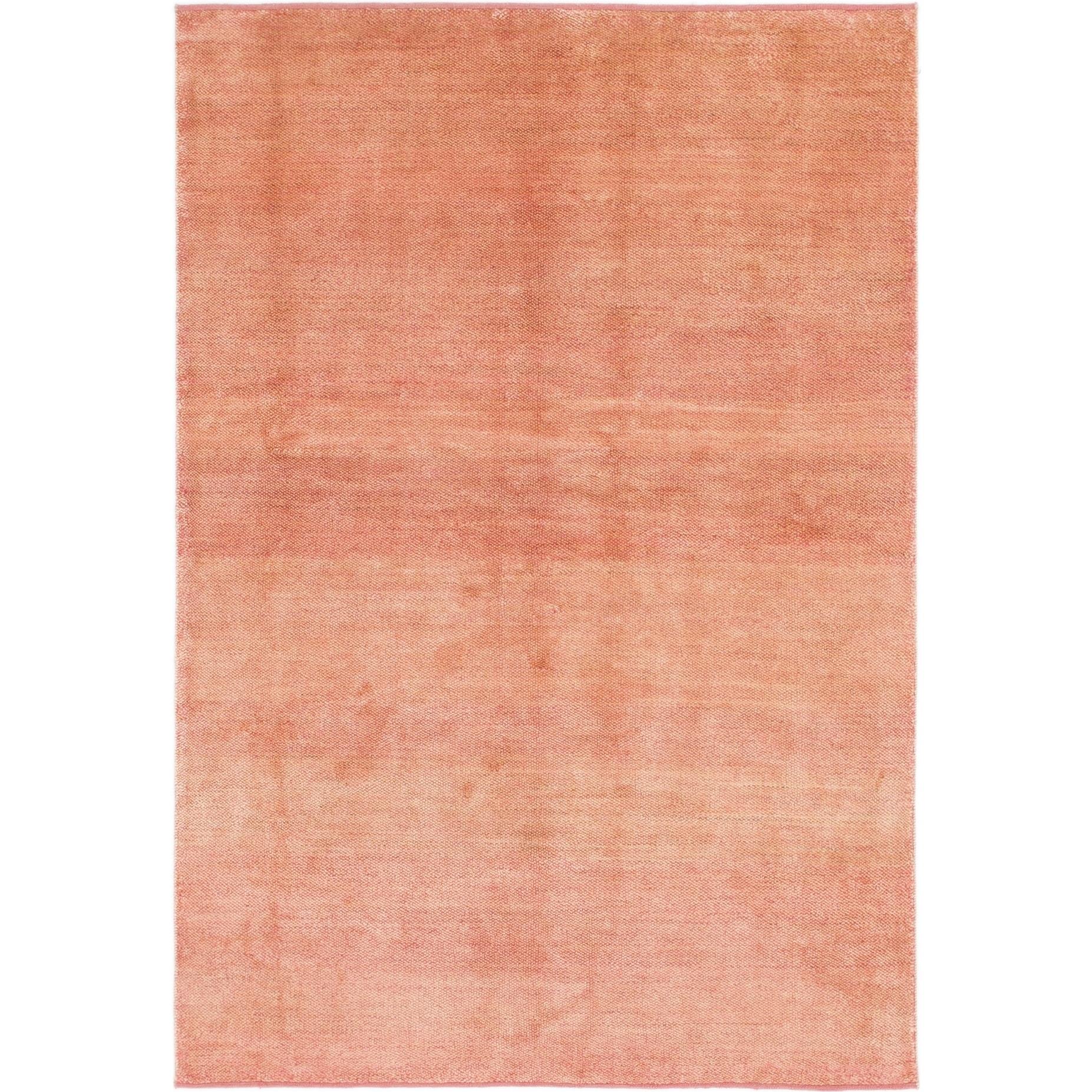 Hand Knotted Kashkuli Gabbeh Wool Area Rug - 5 6 x 8 (puce - 5 6 x 8)