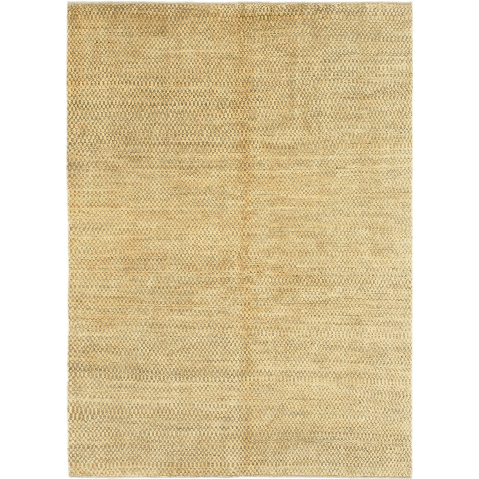 Hand Knotted Kashkuli Gabbeh Wool Area Rug - 4 10 x 6 8 (Gold - 4 10 x 6 8)