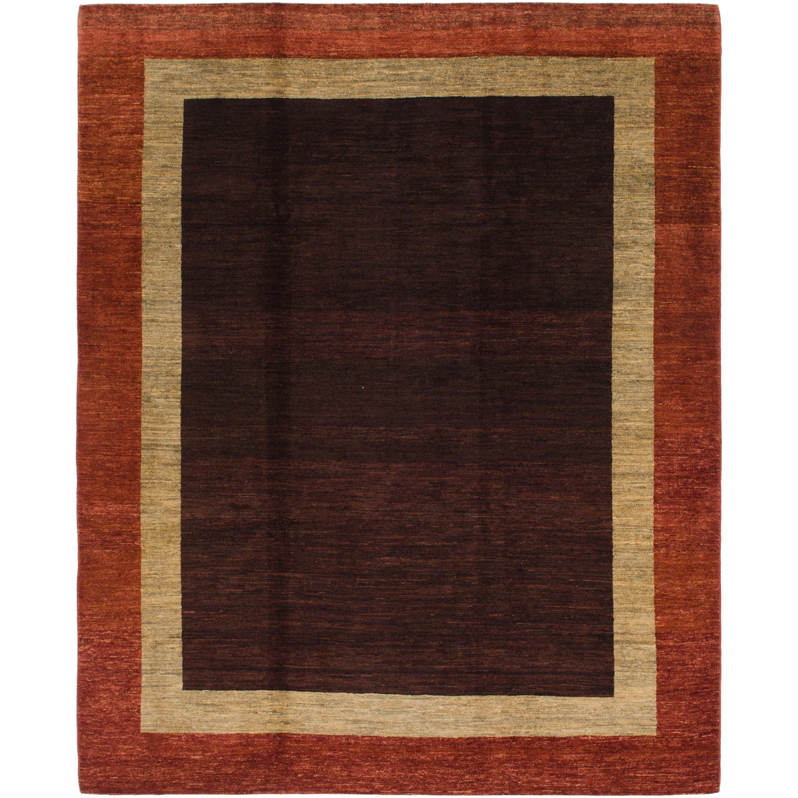 Hand Knotted Kashkuli Gabbeh Wool Area Rug - 8 x 10 (Burgundy - 8 x 10)