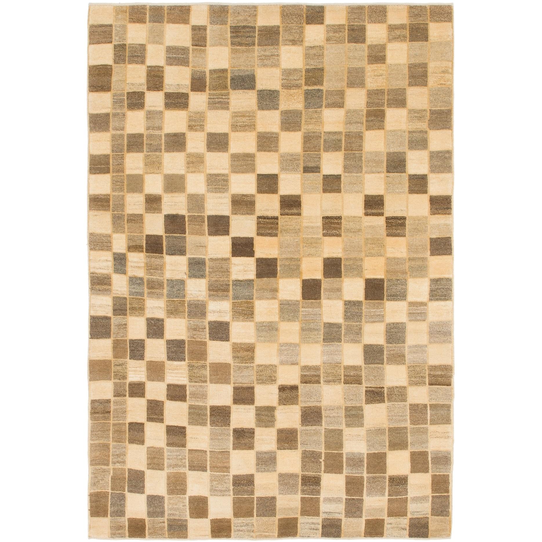 Hand Knotted Kashkuli Gabbeh Wool Area Rug - 5 4 x 8 2 (Multi - 5 4 x 8 2)