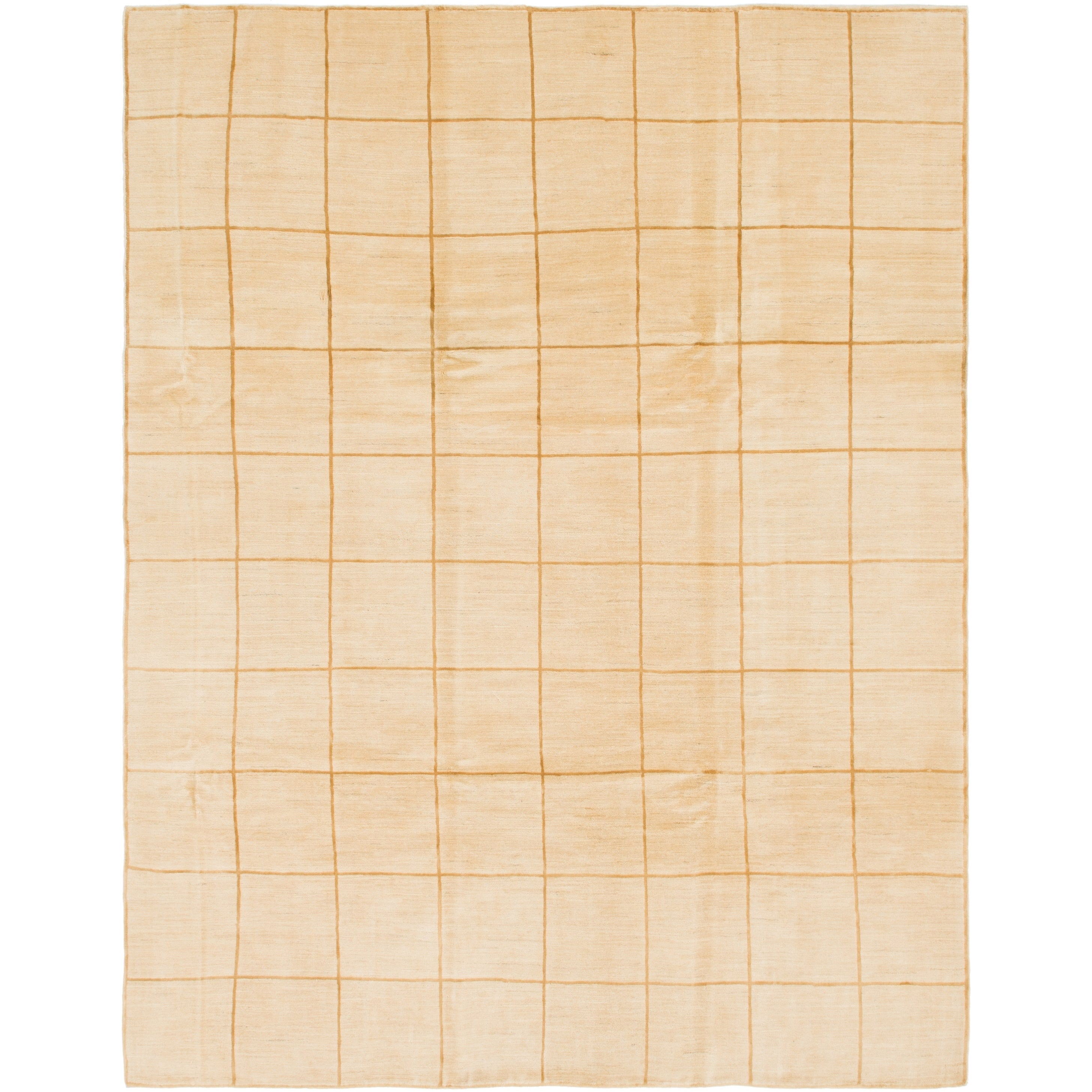 Hand Knotted Kashkuli Gabbeh Wool Area Rug - 8 6 x 11 (Cream - 8 6 x 11)