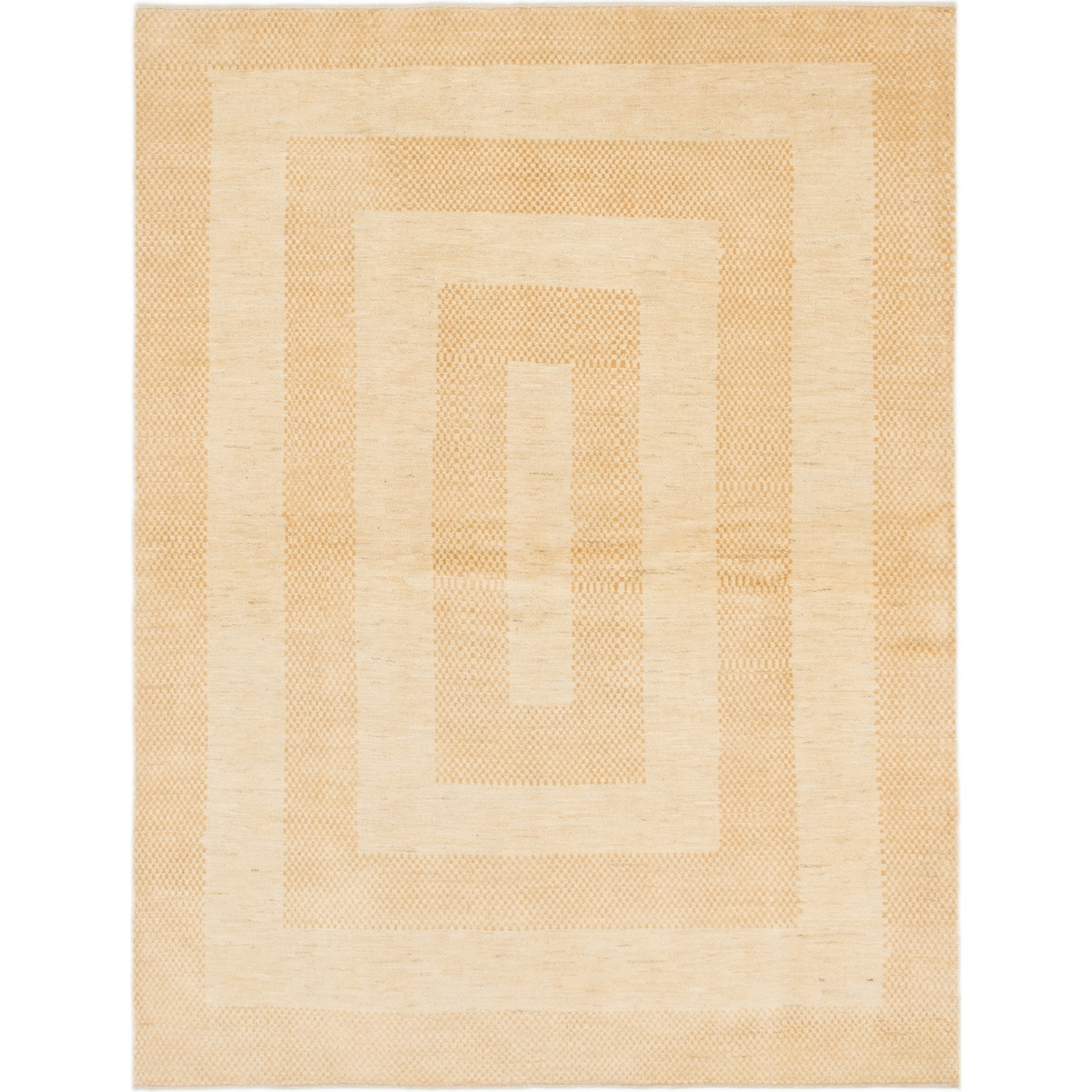 Hand Knotted Kashkuli Gabbeh Wool Area Rug - 5 9 x 7 7 (Gold - 5 9 x 7 7)