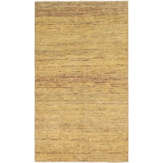 Hand Knotted Kashkuli Gabbeh Wool Area Rug - 5' 3 x 9' 2