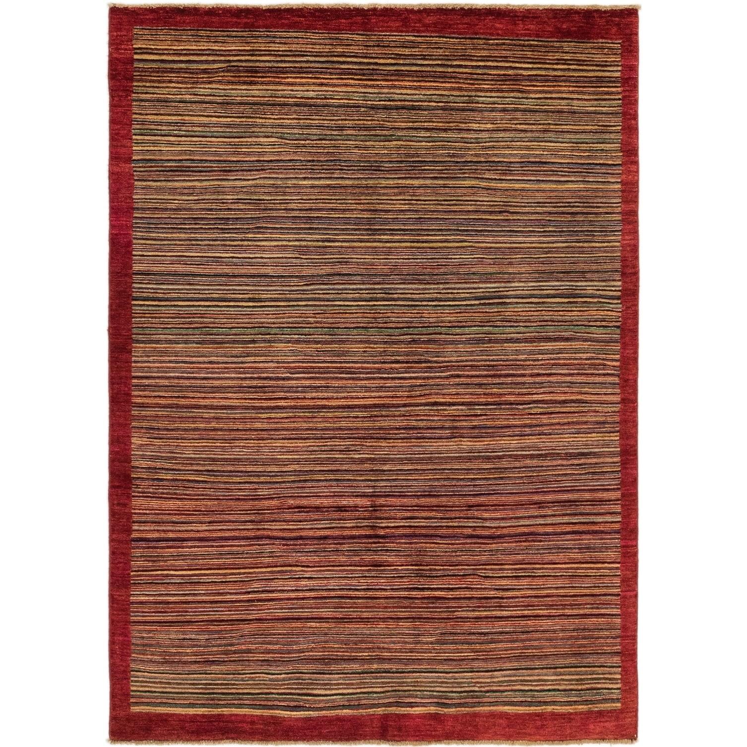 Hand Knotted Kashkuli Gabbeh Wool Area Rug - Multi - 4 7 x 6 2 (Multi - 4 7 x 6 2)