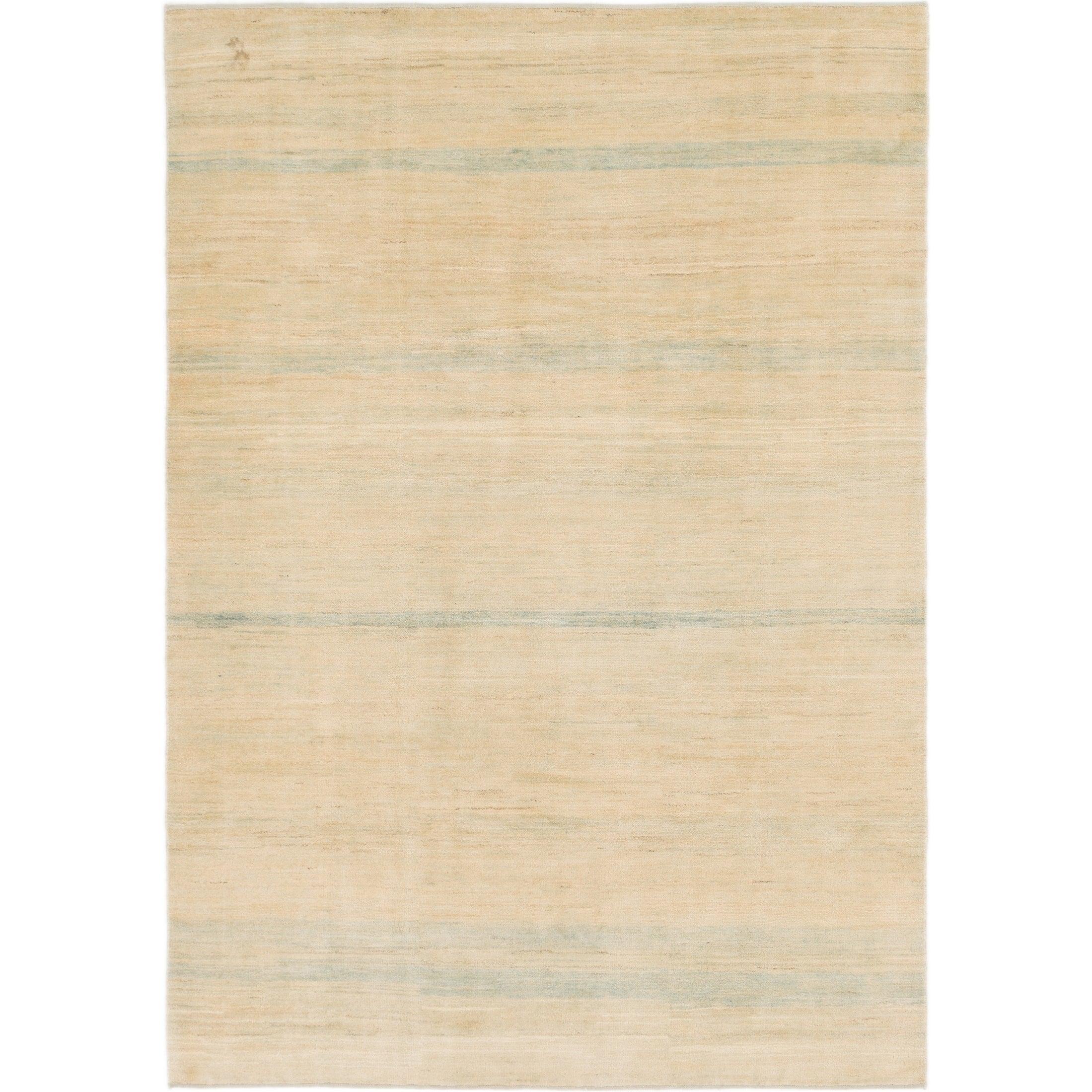 Hand Knotted Kashkuli Gabbeh Wool Area Rug - 6 7 x 9 5 (Cream - 6 7 x 9 5)
