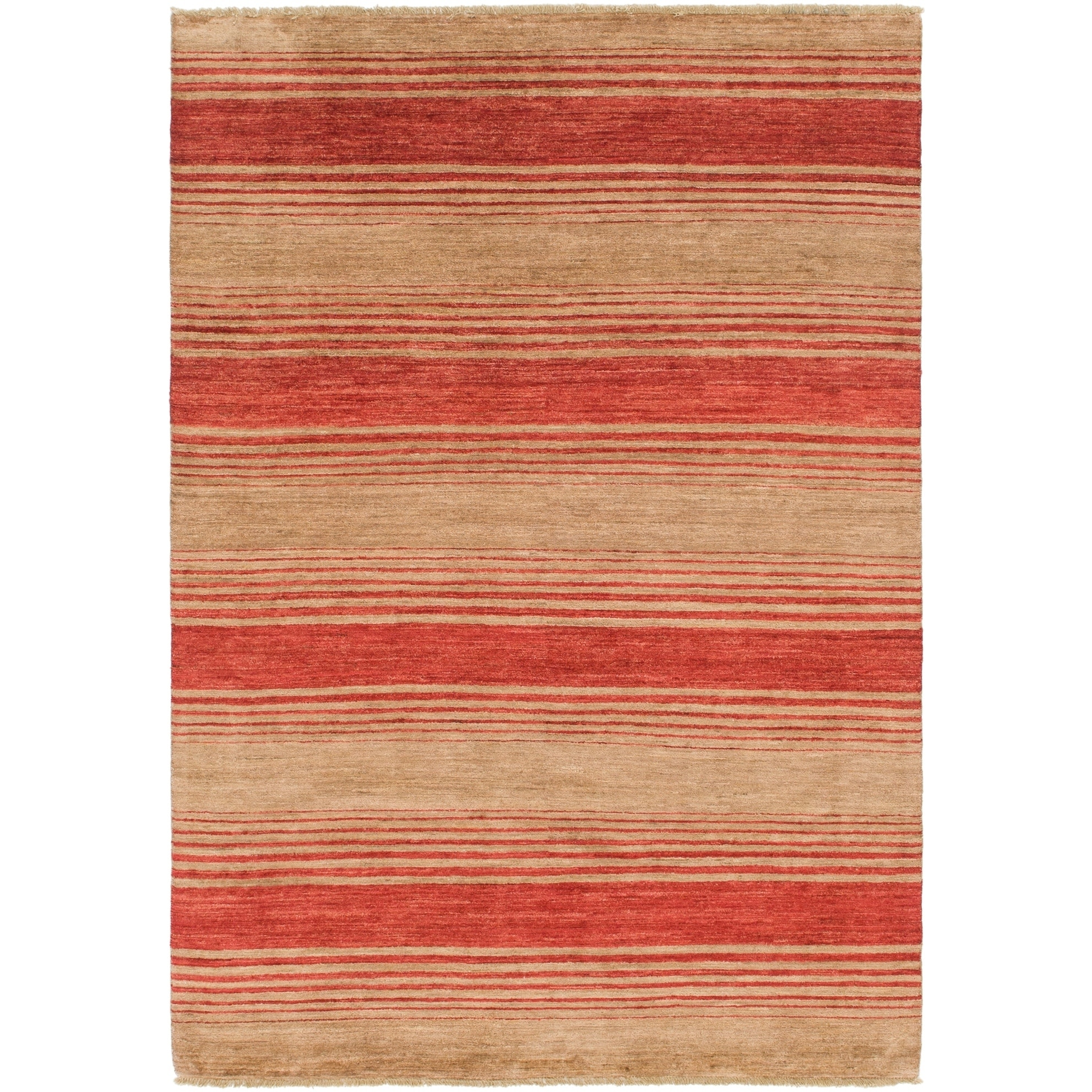 Hand Knotted Kashkuli Gabbeh Wool Area Rug - 5 8 x 8 2 (Red - 5 8 x 8 2)