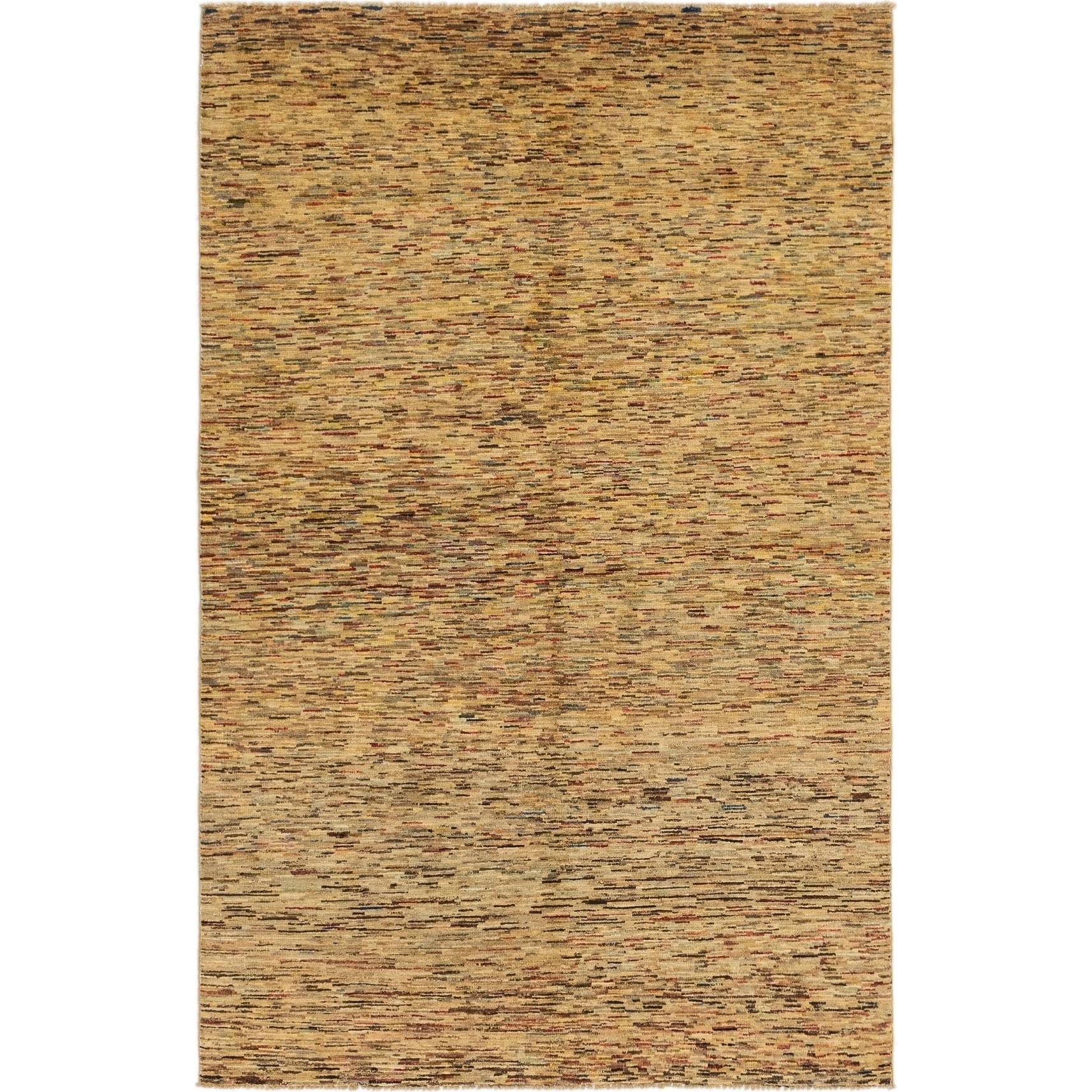 Hand Knotted Kashkuli Gabbeh Wool Area Rug - 5 2 x 8 2 (Multi - 5 2 x 8 2)