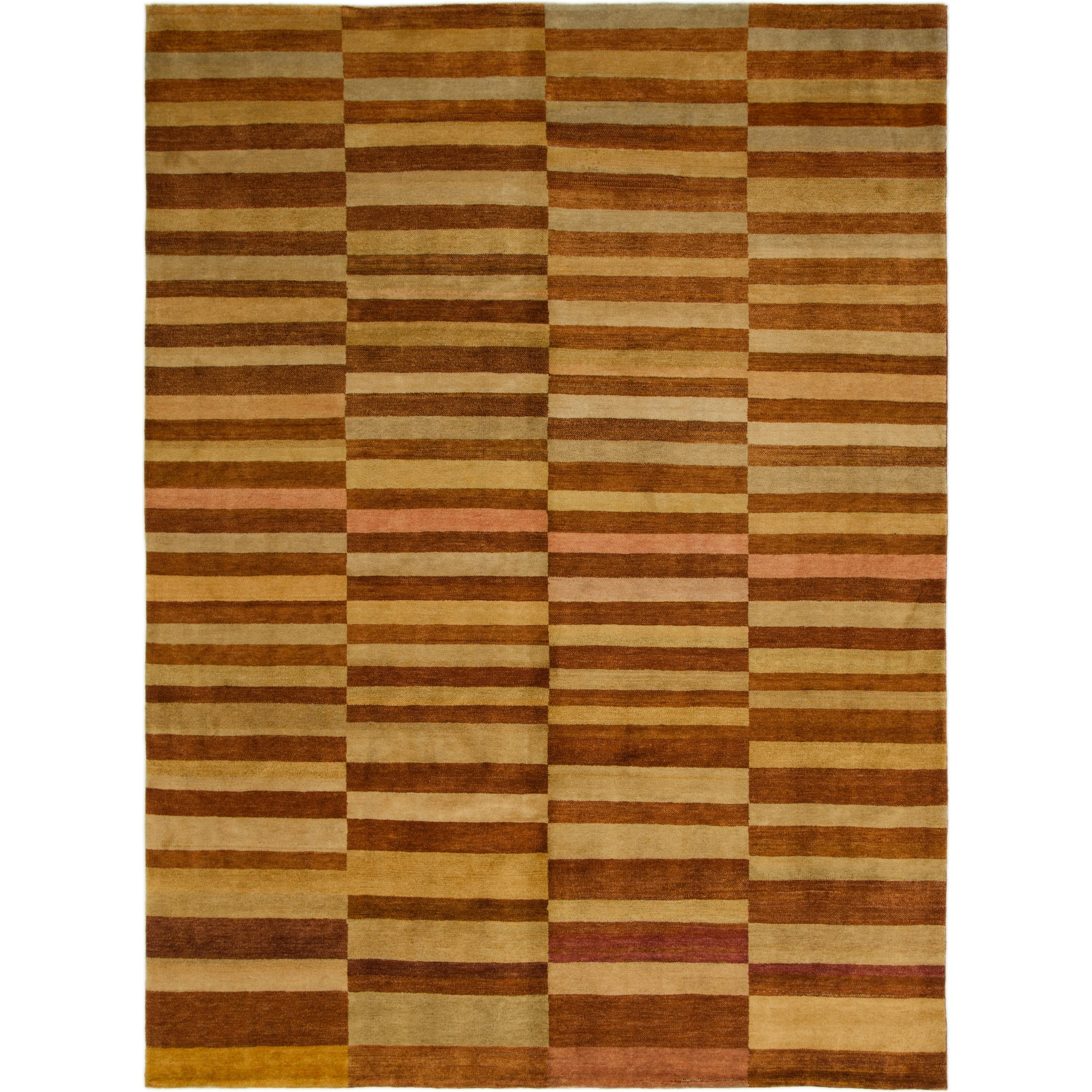 Hand Knotted Kashkuli Gabbeh Wool Area Rug - 8 3 x 11 2 (Rust Red - 8 3 x 11 2)